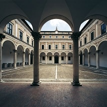 cortile interno universita urbino
