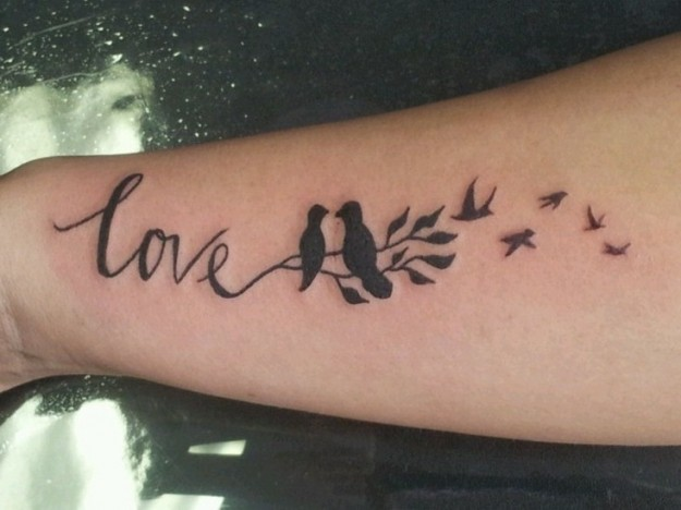 San Valentino: ... Infinity Tattoos With Birds