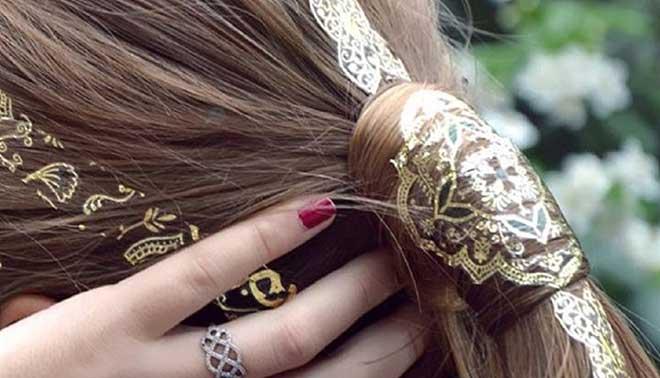 Con siero di olio di capelli di bardana