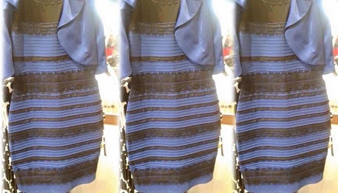 Foto vestito blu nero oro
