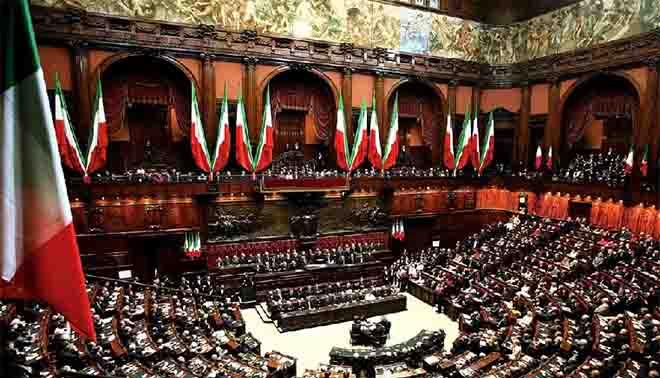 parlamento italiano composizione