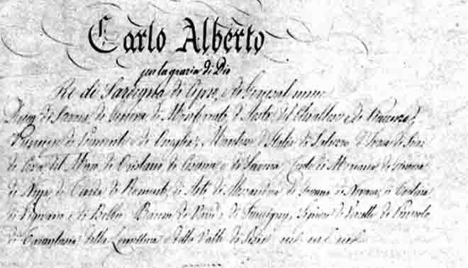 Risultati immagini per Statuto Albertino foto