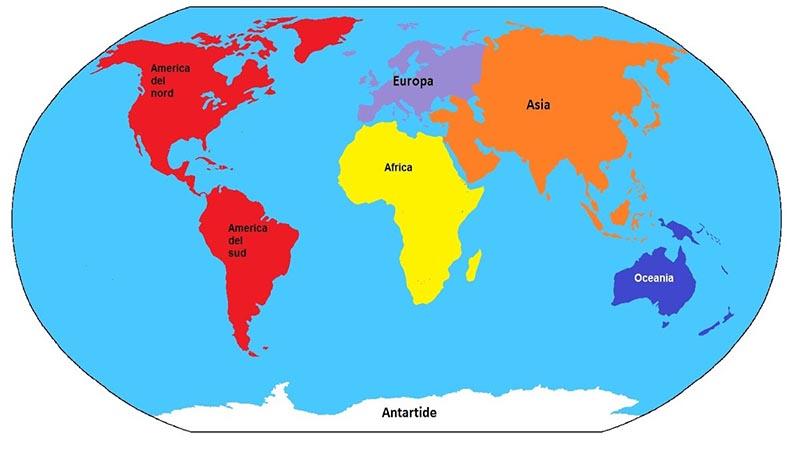Europa E Asia Cartina.Continenti Quali Sono