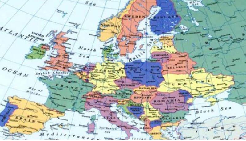 Cartina Europa 1800.Europa E Resto Del Mondo Dal 1815 Al 1870