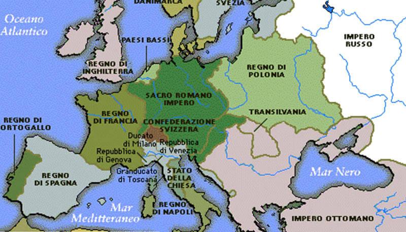Cartina Geografica Dell Inghilterra Politica.Francia E Inghilterra Dal 1500 Al 1700