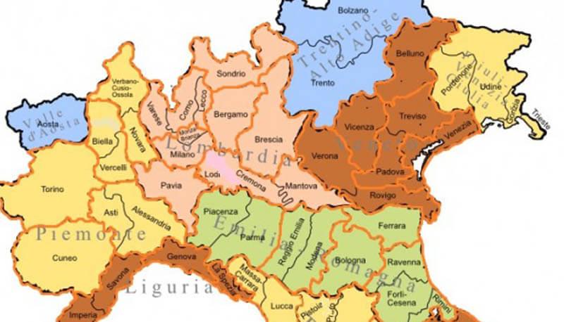 Cartina Politica Italia Del Nord.Italia Settentrionale Ricerca Descrizione E Caratteristiche Generali