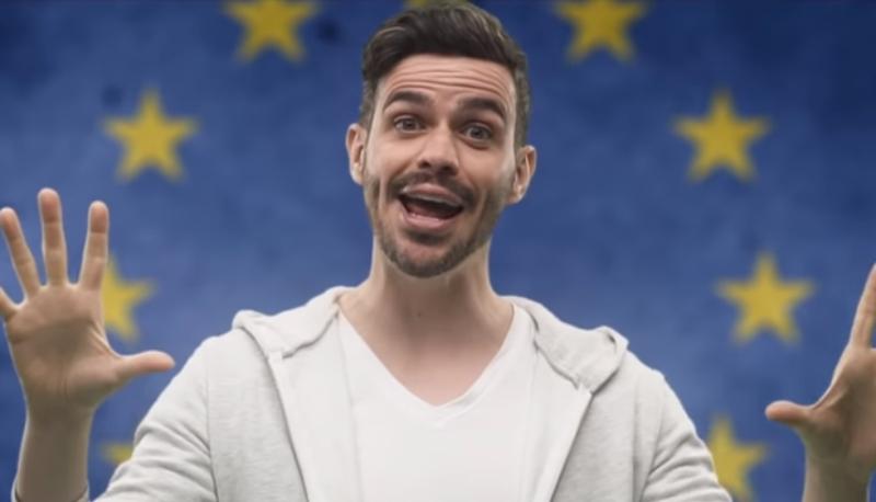 Elezioni Europee 2019: Lorenzo Baglioni canta l'UE in versione neomelodica
