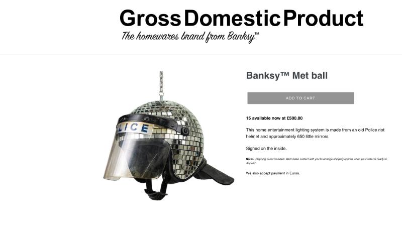 Banksy apre uno shop online: i più assurdi oggetti d'arte che puoi comprare (forse)