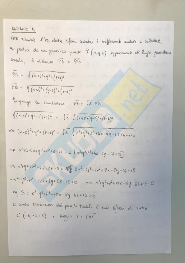 Soluzione quesiti Seconda prova liceo Scientifico 2019
