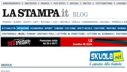 Skuola.net arriva su LaStampa.it Blog