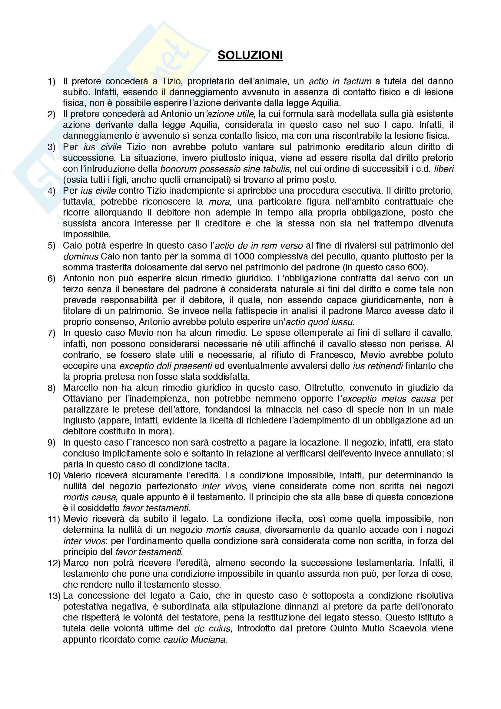 Esercitazioni su casi pratici di diritto romano Pag. 6