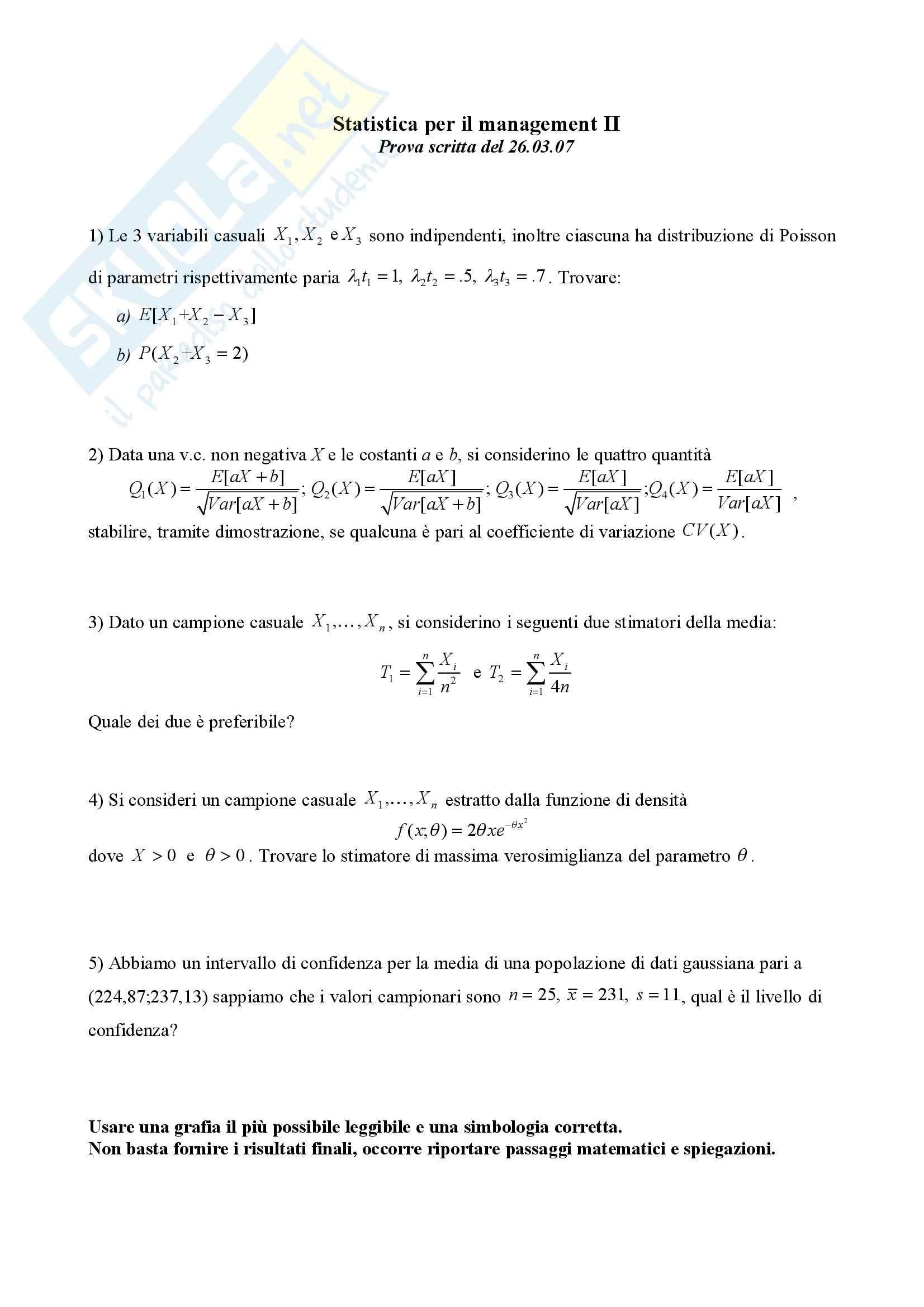 Statistica – Esami Pag. 21