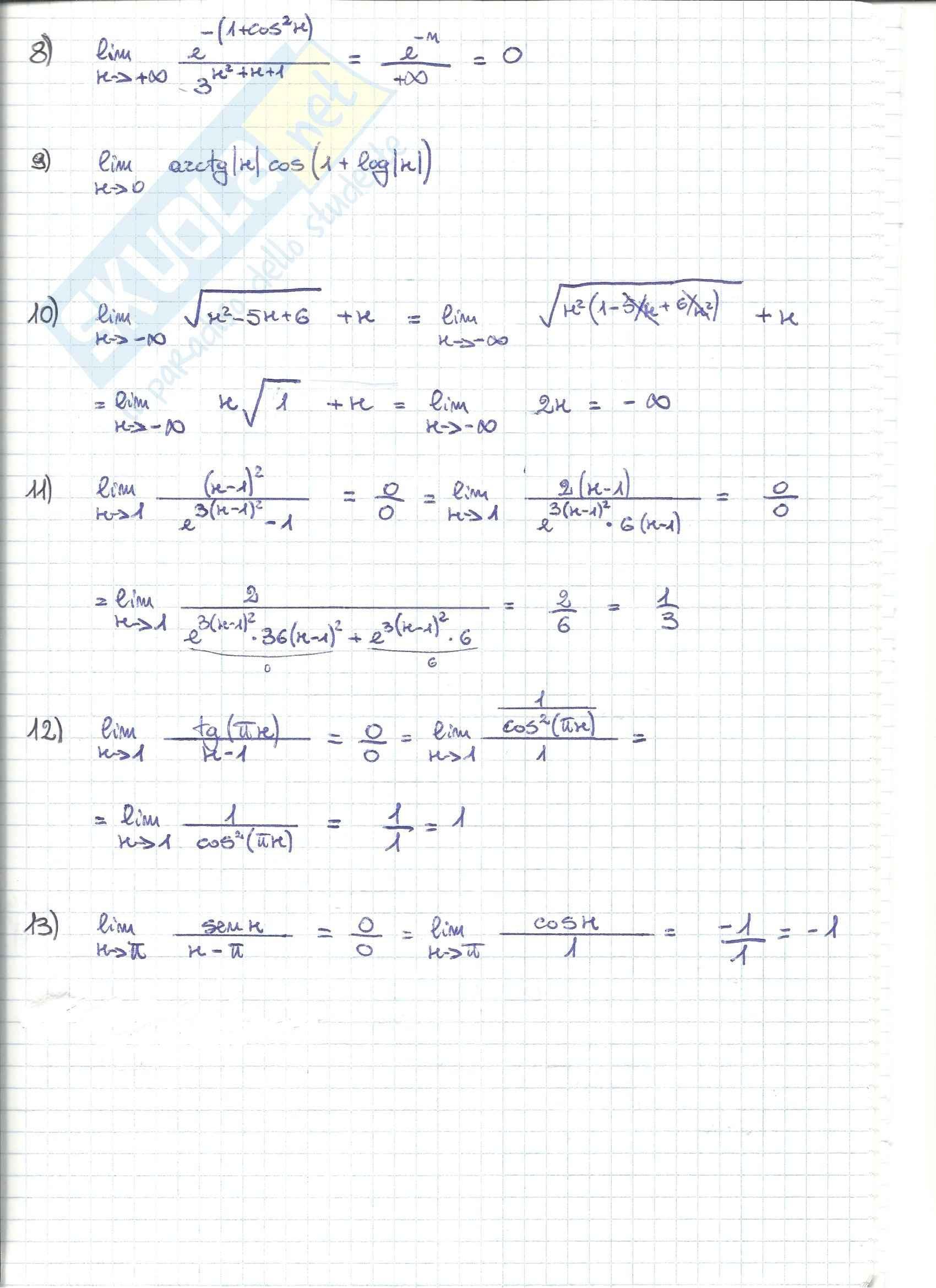 Analisi matematica 1 - esercizi Pag. 16
