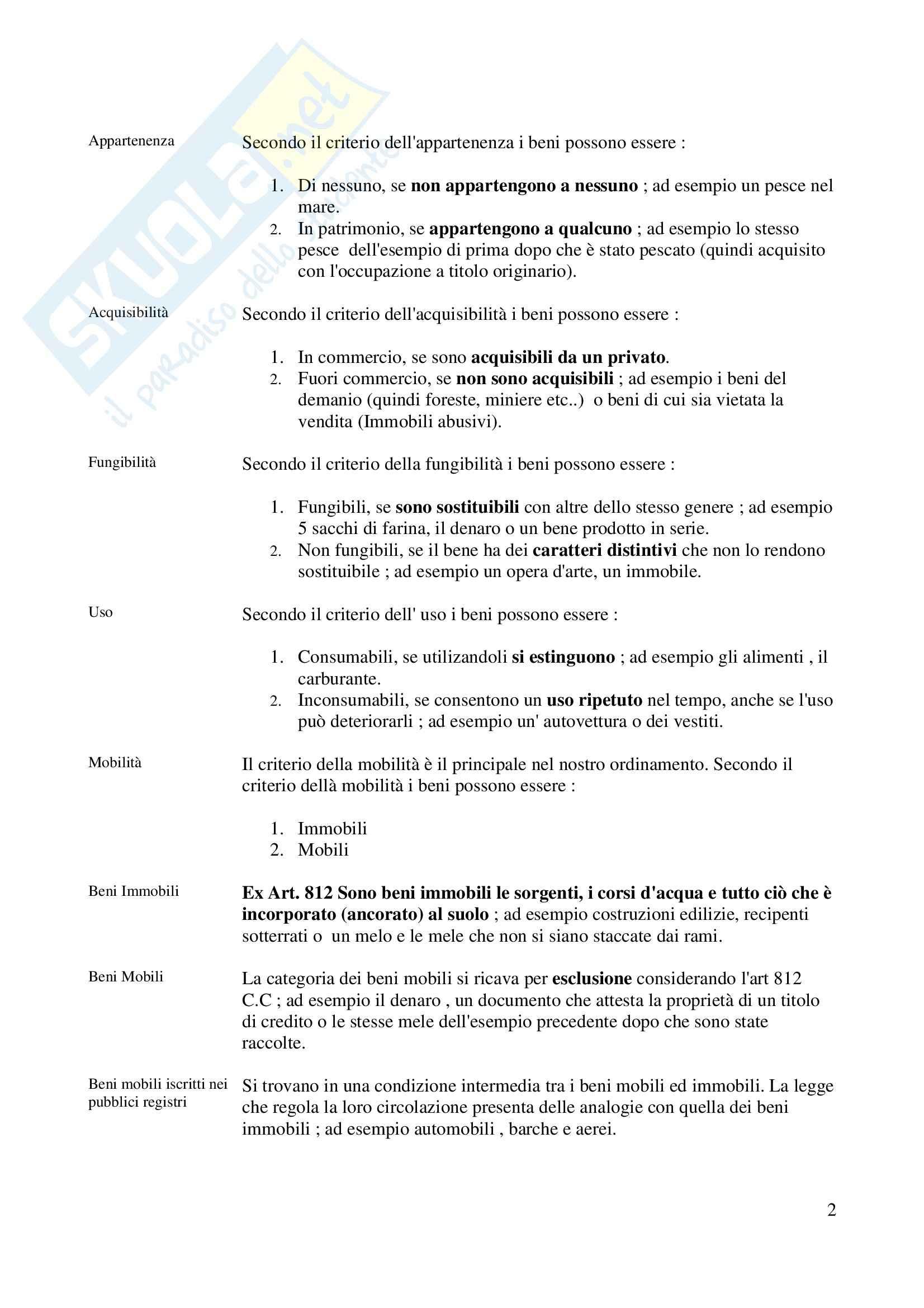 Riassunto esame Diritto civile, prof. Sesta, libro consigliato Trattato di Diritto civile, Galgano Pag. 2