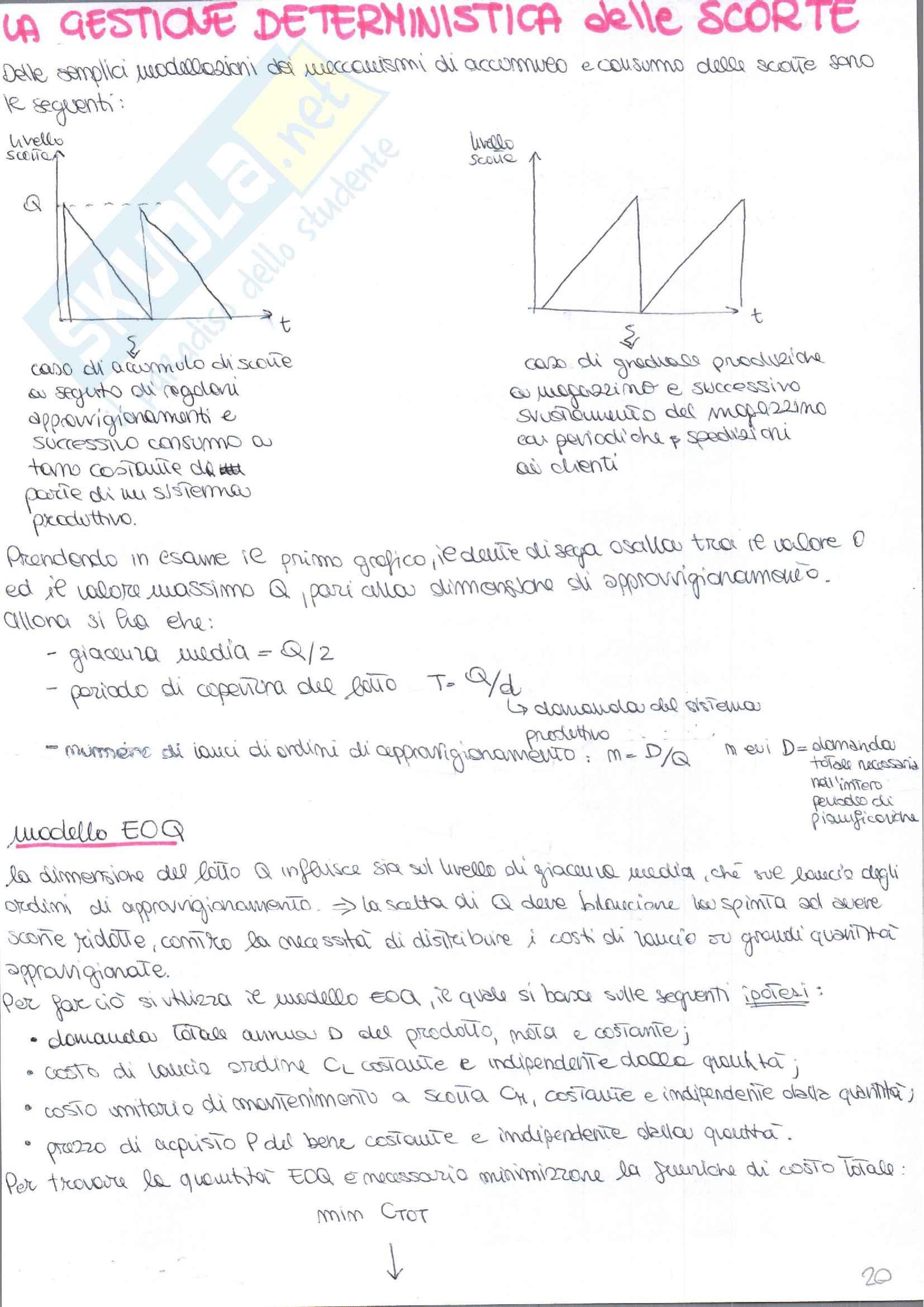 Appunti di Gestione degli Impianti Industriali prof. Costantino Pag. 36