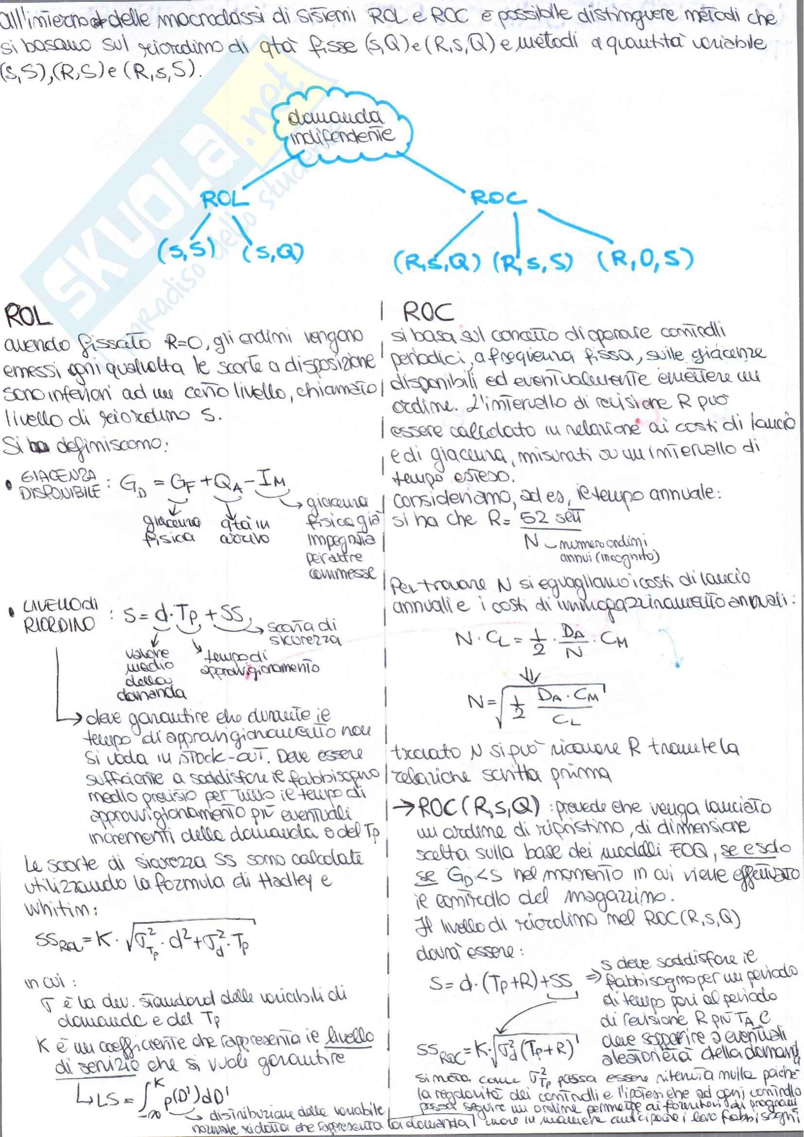 Appunti di Gestione degli Impianti Industriali prof. Costantino Pag. 41