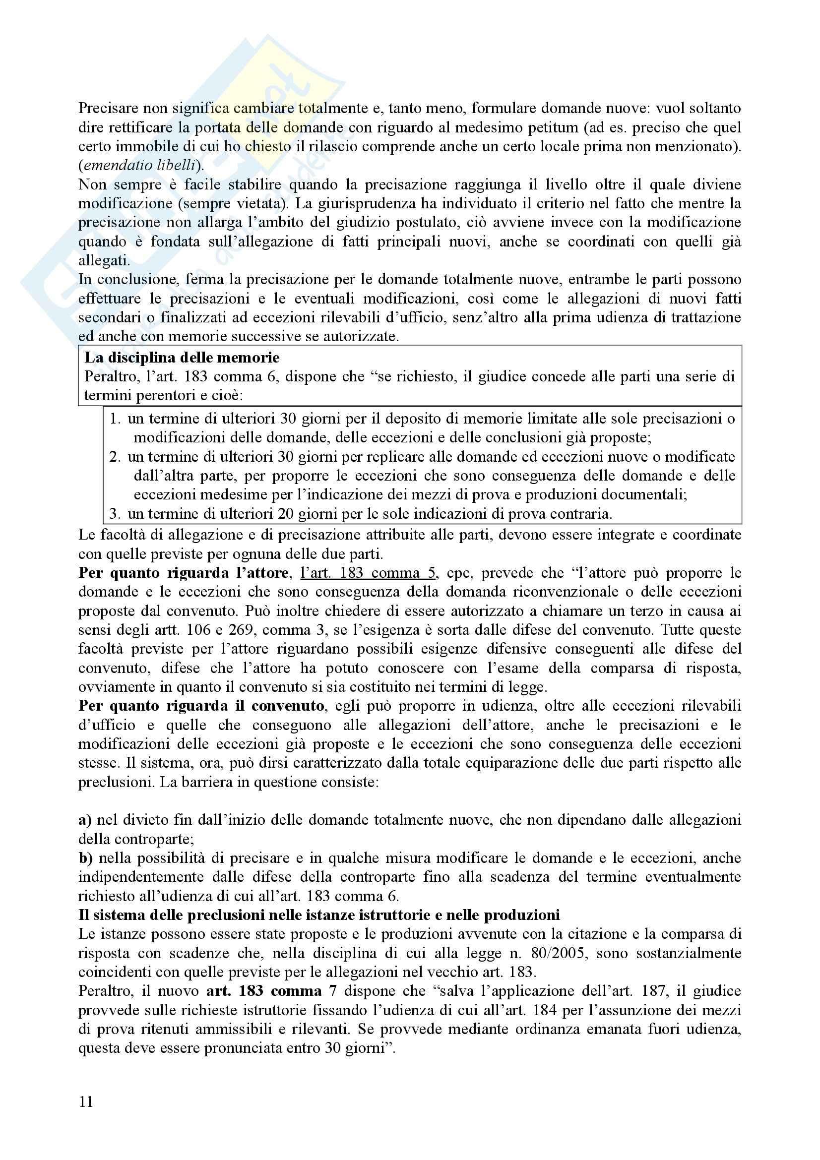 Diritto processuale civile - il processo di cognizione Pag. 11