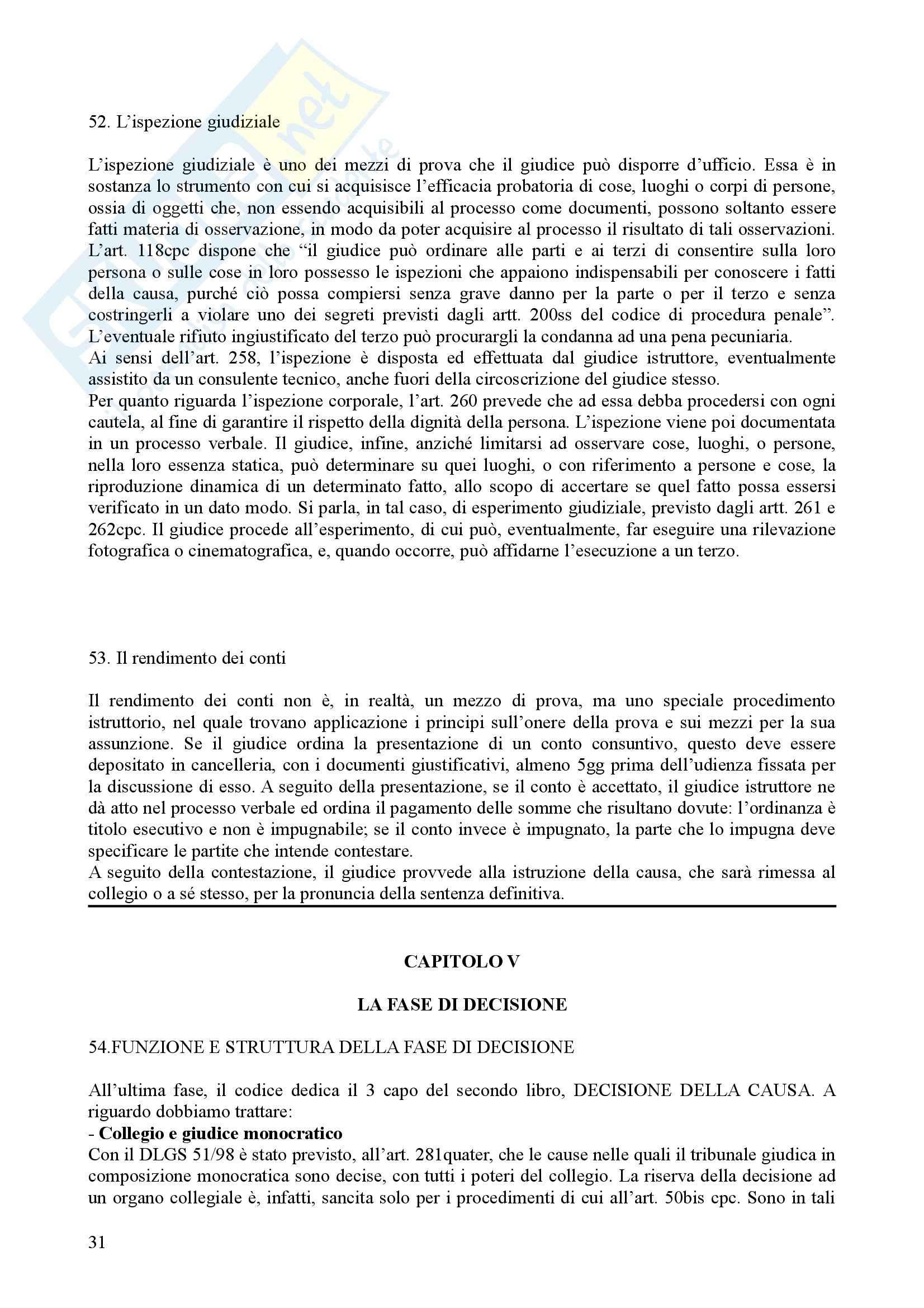 Diritto processuale civile - il processo di cognizione Pag. 31