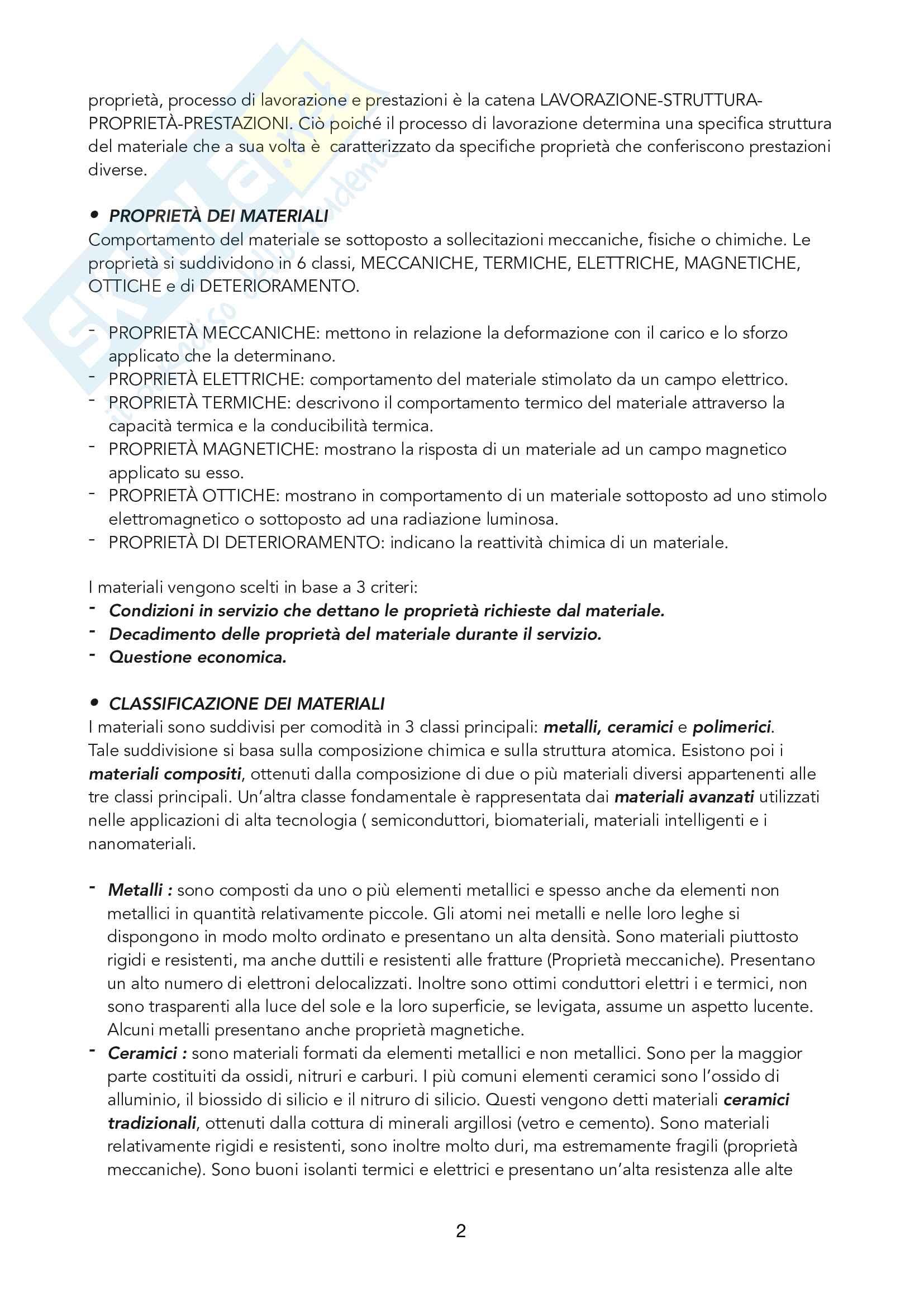 appunti tecnologia dei materiali e chimica applicata Pag. 2