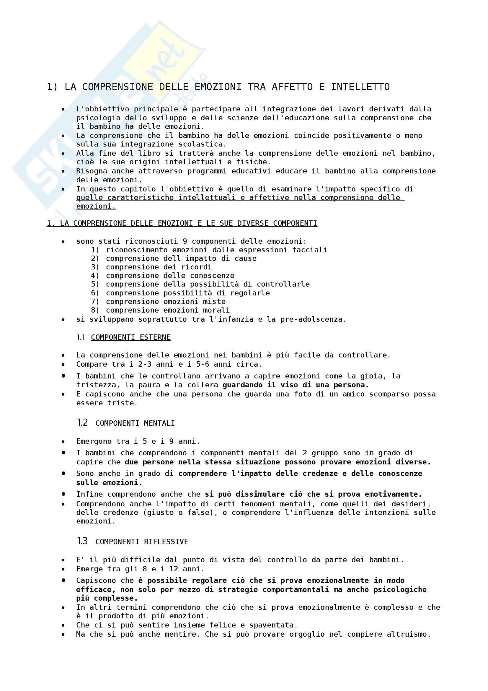 Riassunto esame Psicologia della Disabilità, prof. Albanese, libro consigliato Competenza Emotiva tra Psicologia ed Educazione, Angeli