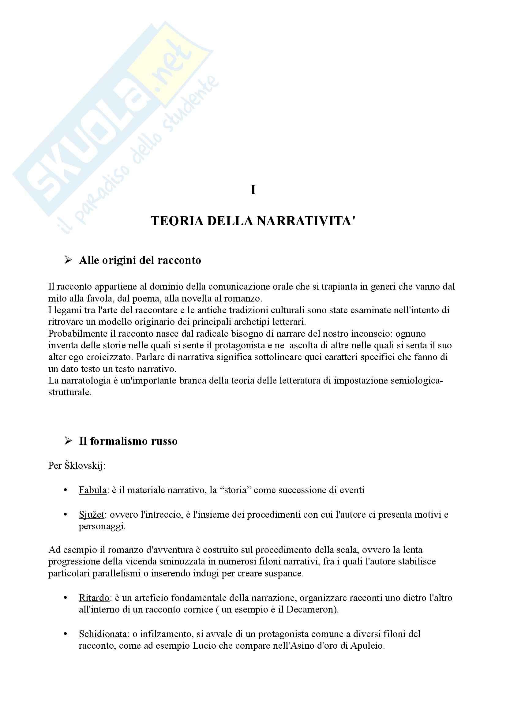 Riassunto esame Letteratura inglese, prof. Ettorre, libro consigliato Officina del Racconto, Marchese