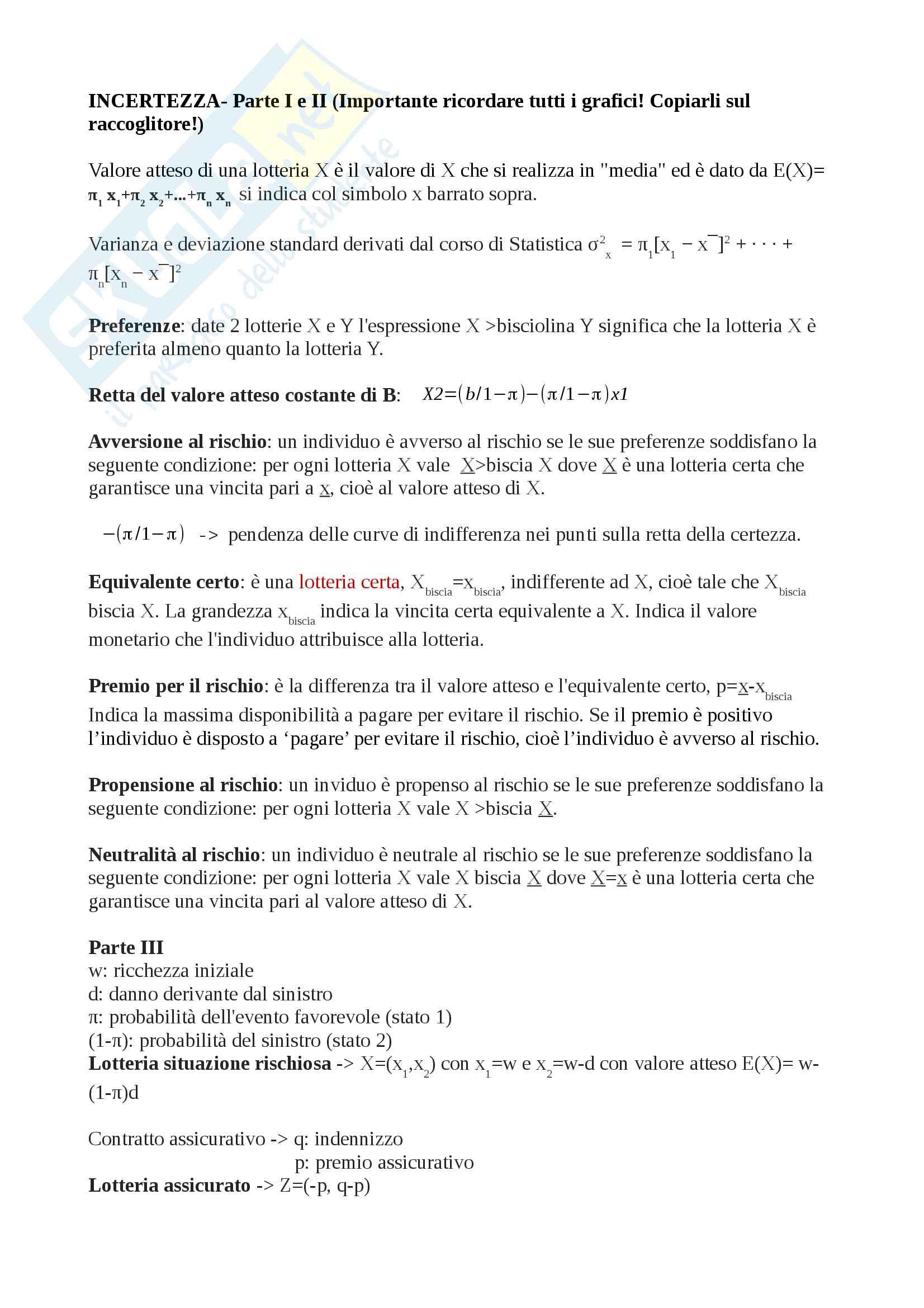 Microeconomia (cenni semplici per passare con 30)