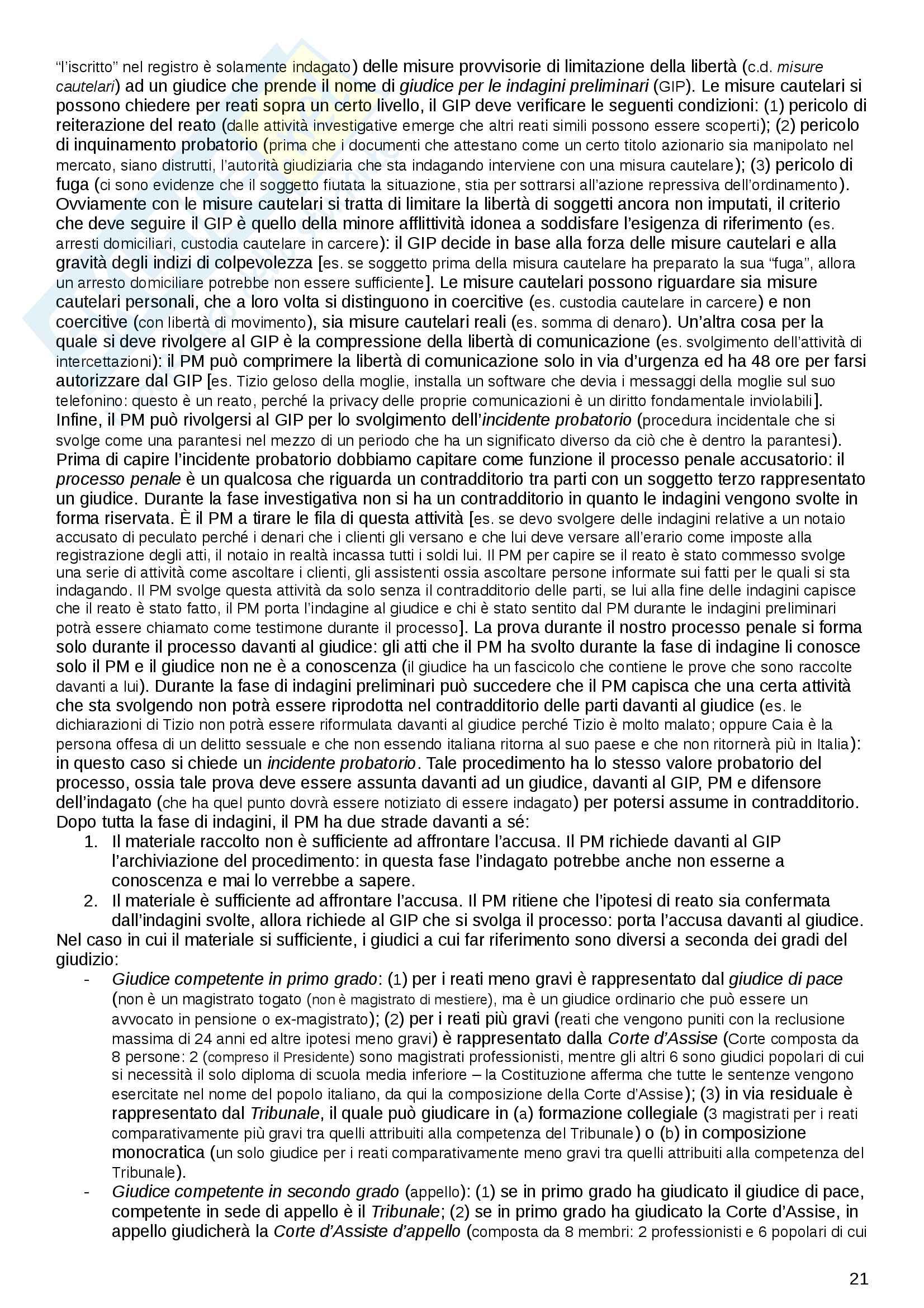 """Riassunto esame Diritto penale commerciale, prof. F. D'Alessandro, libro consigliato """"Diritto penale dell'impresa"""" di Ambrosetti (2012) Pag. 21"""