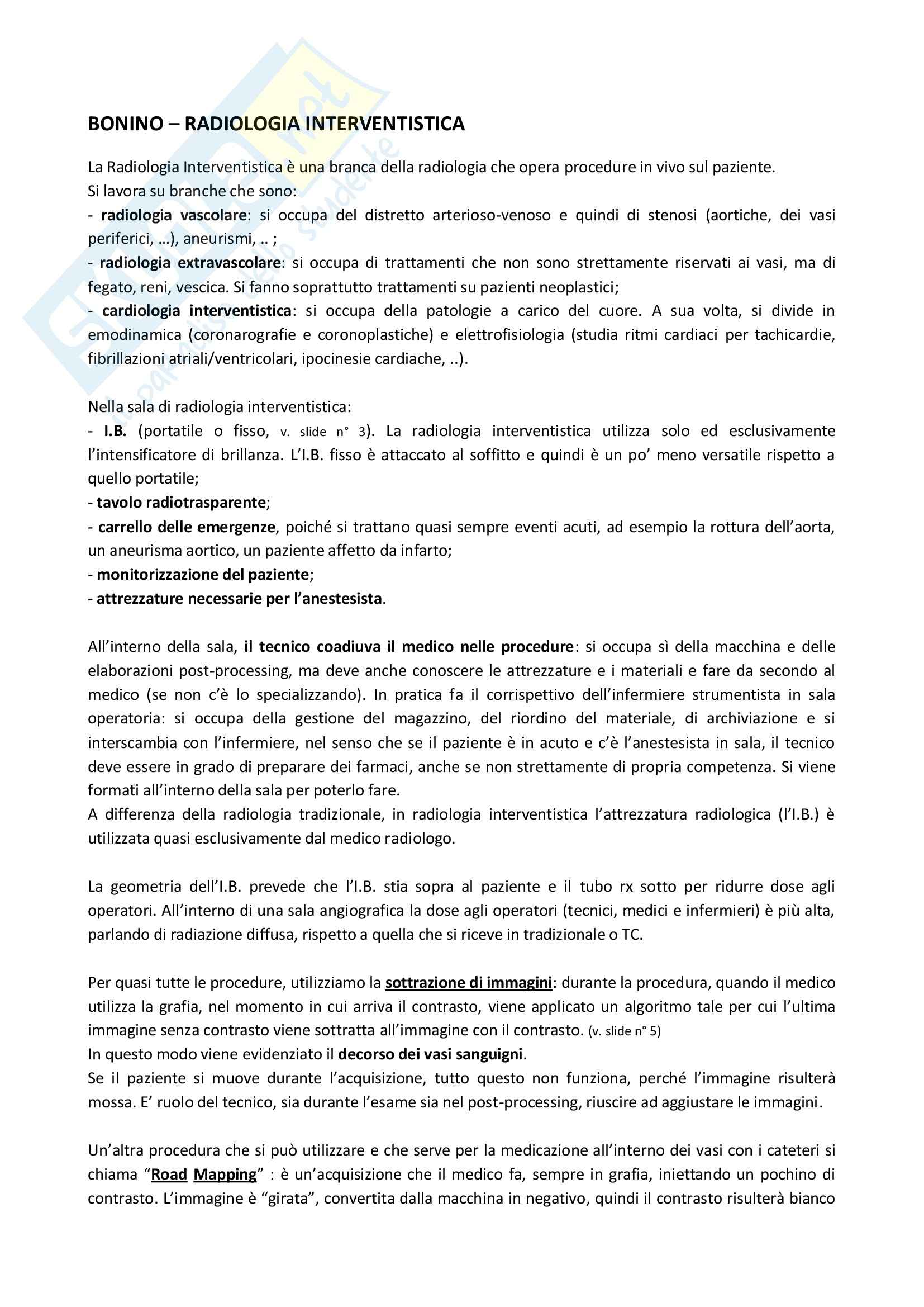 Radiologia Interventistica - Appunti