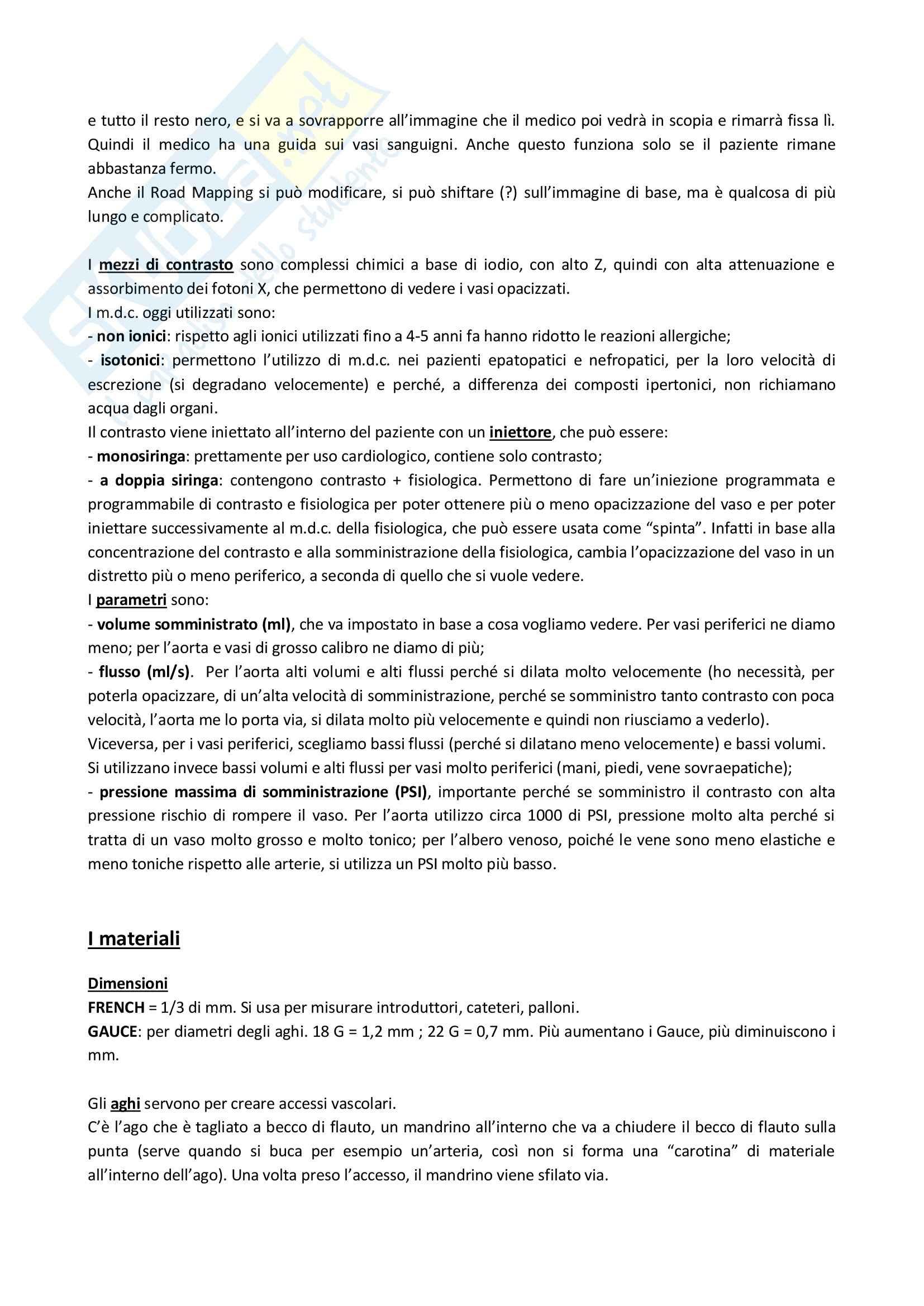 Radiologia Interventistica - Appunti Pag. 2