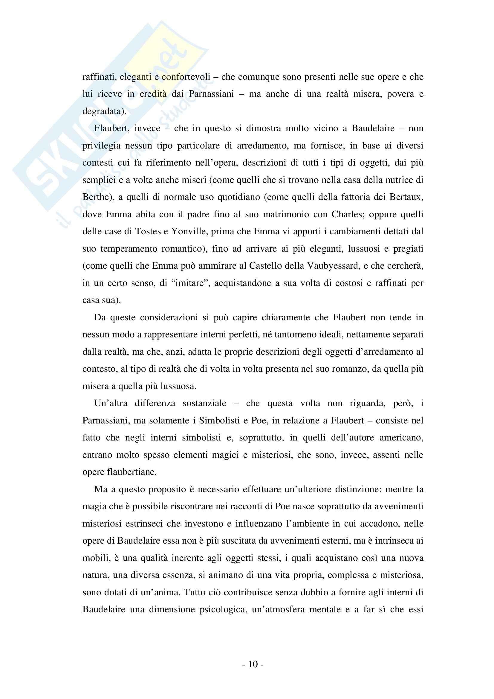 Tesi, Flaubert: il Tema dell'arredamento in Madame Bovary Pag. 11