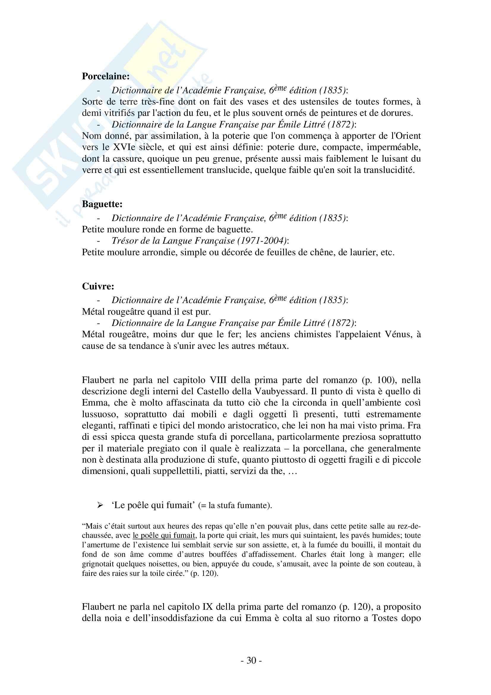 Tesi, Flaubert: il Tema dell'arredamento in Madame Bovary Pag. 31