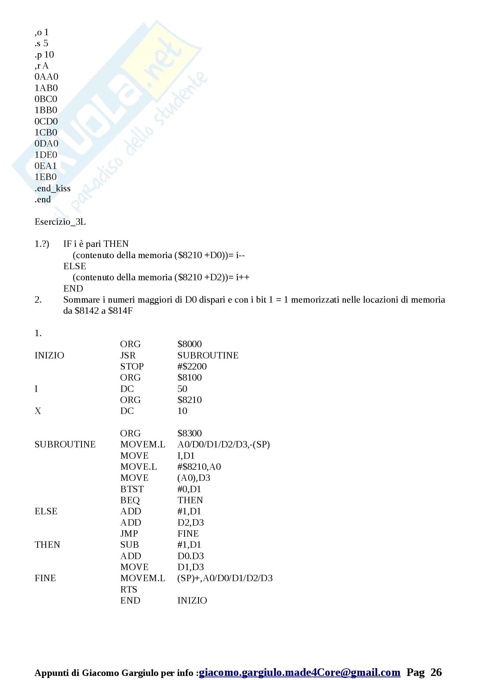 Esame Svolti Laboratorio Architettura dei Calcolatori Pag. 26