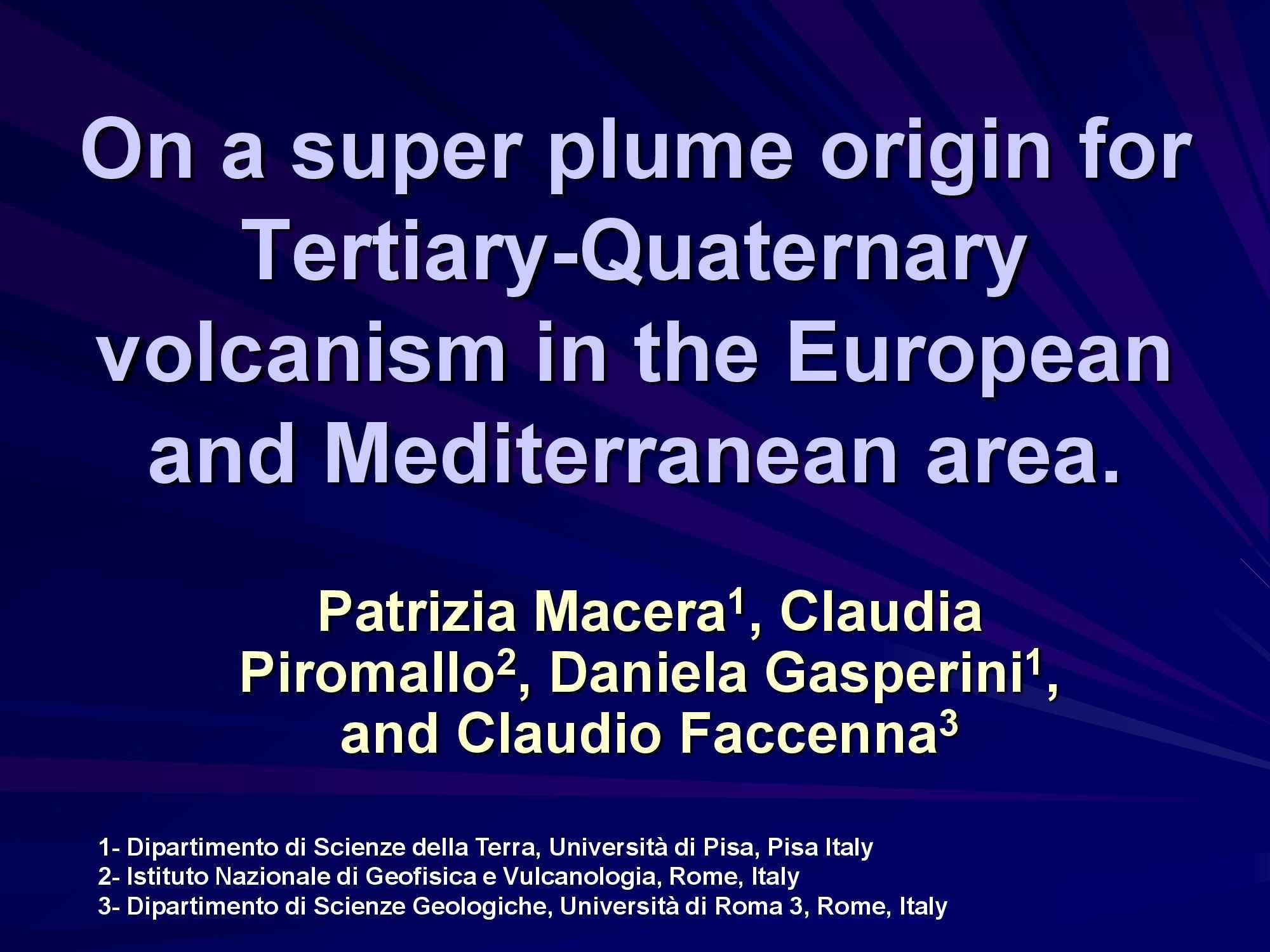 Magmatismo euro mediterraneo