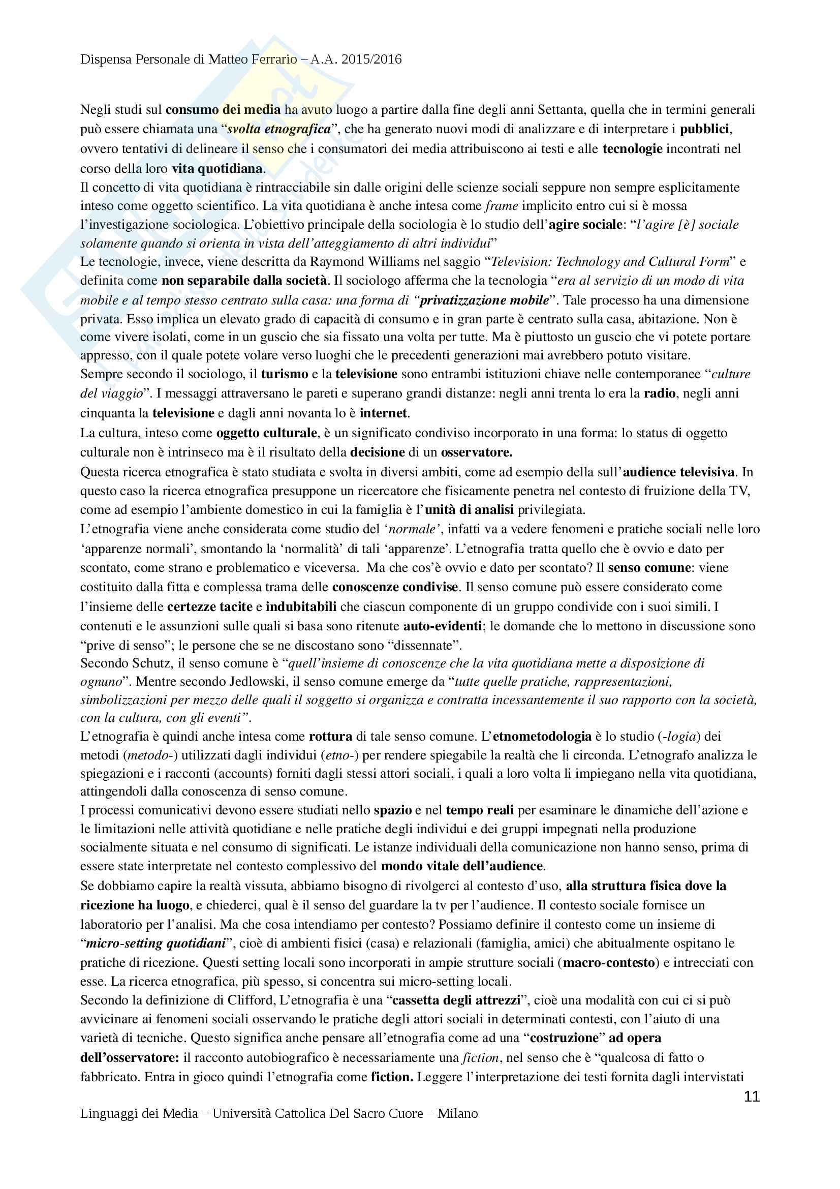 Riassunto Esame di Teorie e Tecniche della Comunicazione Mediale - Prof. Lombardi Pag. 11