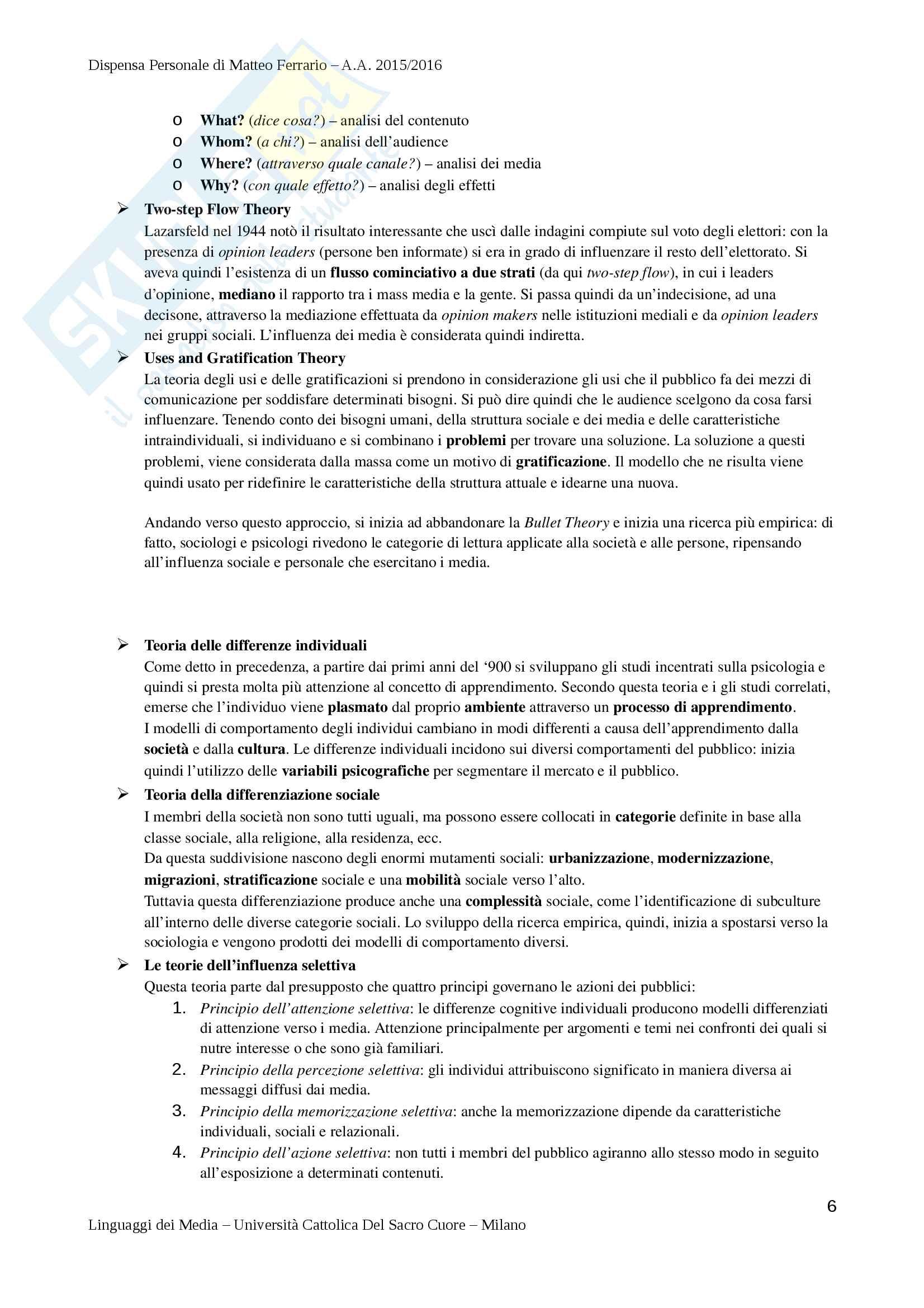Riassunto Esame di Teorie e Tecniche della Comunicazione Mediale - Prof. Lombardi Pag. 6