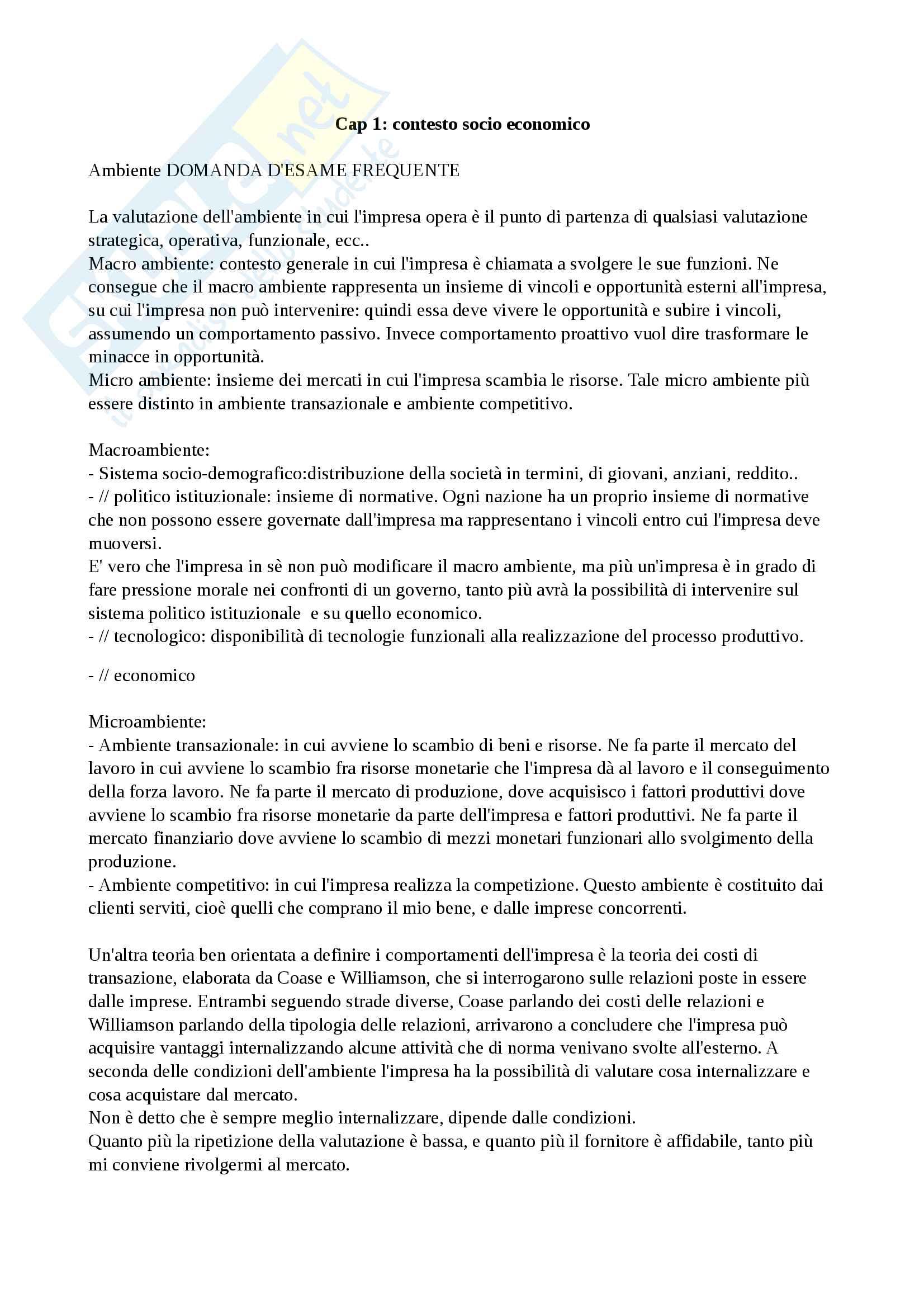 Appunti di economia e gestione delle imprese, economia e gestione delle imprese