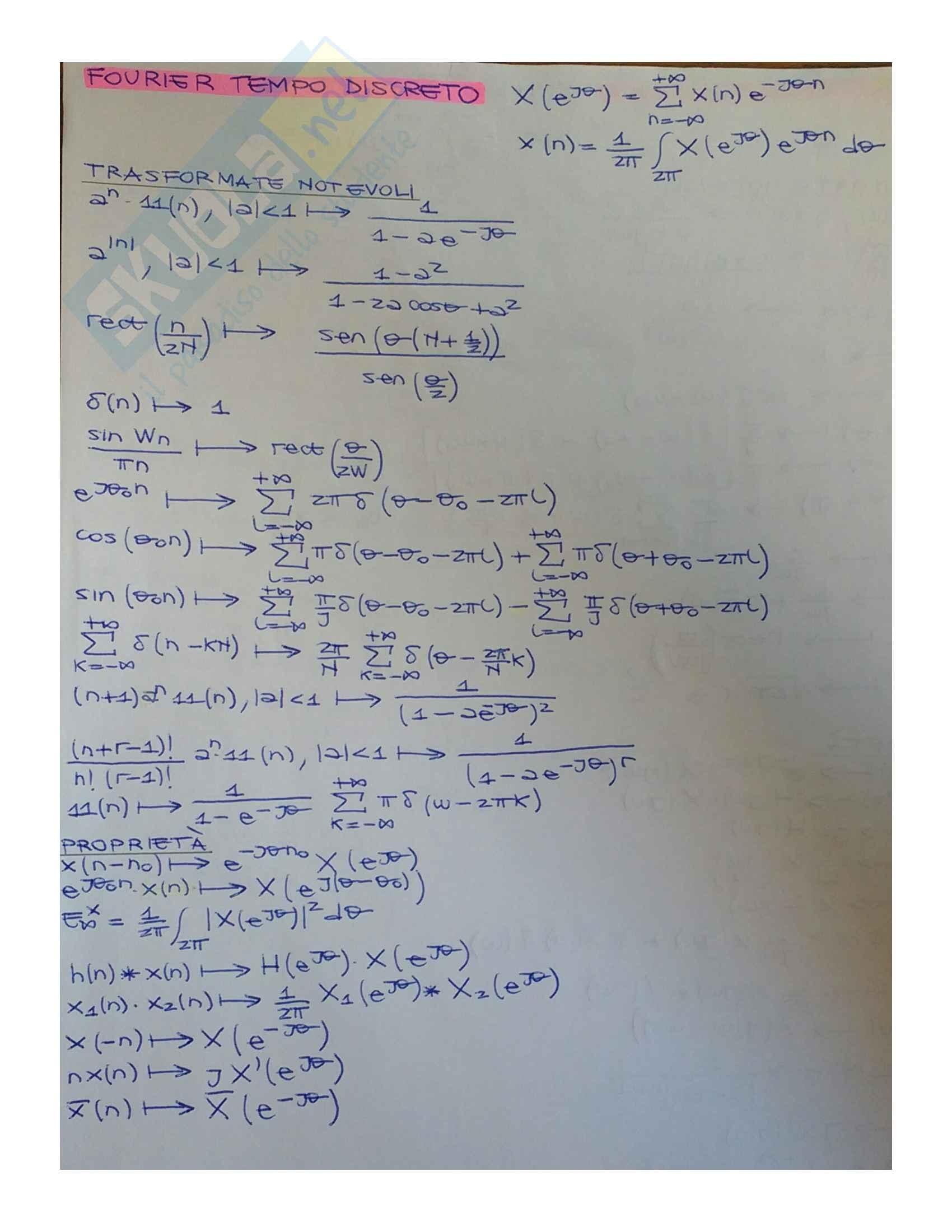 Segnali e Sistemi (Schemi) Pag. 11