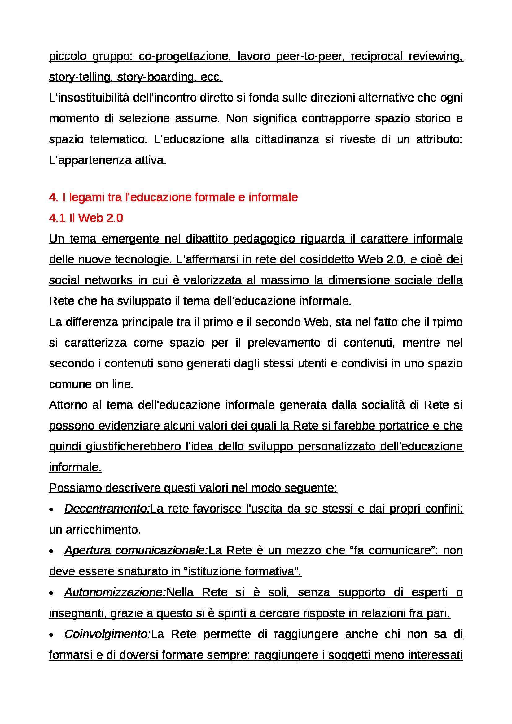 Riassunto esame Educazione mediale, prof. Faiella, libro consigliato Media e tecnologie per la didattica, Ardizzone, Rivoltella Pag. 16