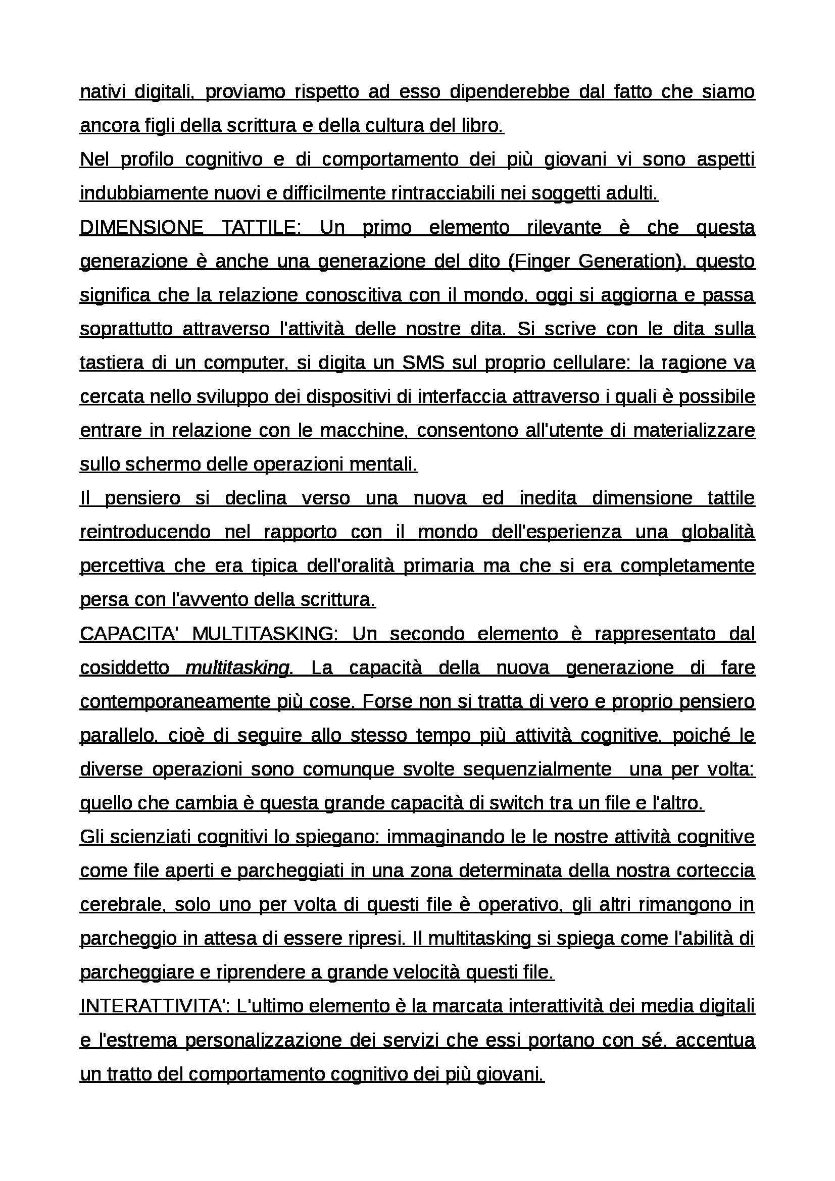 Riassunto esame Educazione mediale, prof. Faiella, libro consigliato Media e tecnologie per la didattica, Ardizzone, Rivoltella Pag. 21