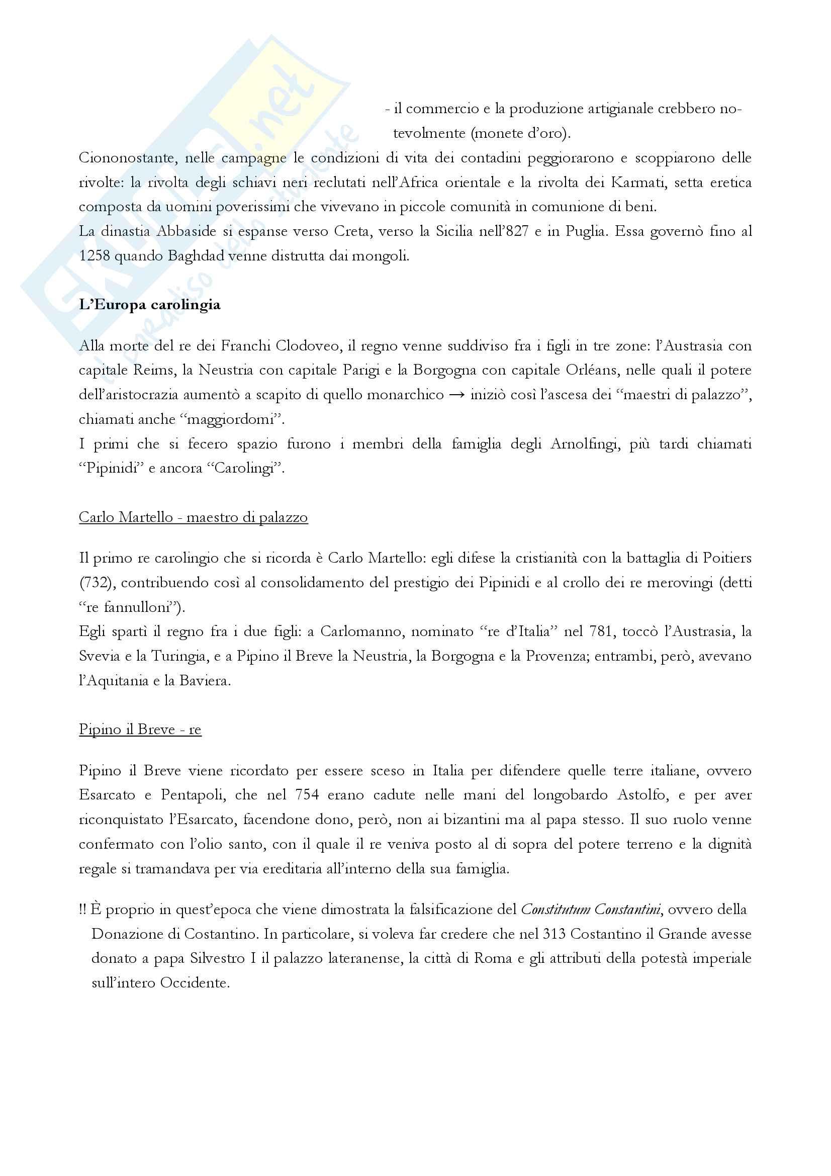 """Riassunto esame storia medievale, Prof. Varanini, libro consigliato """"I mille anni del Medioevo"""" (G. Piccinni) (prima parte) Pag. 11"""