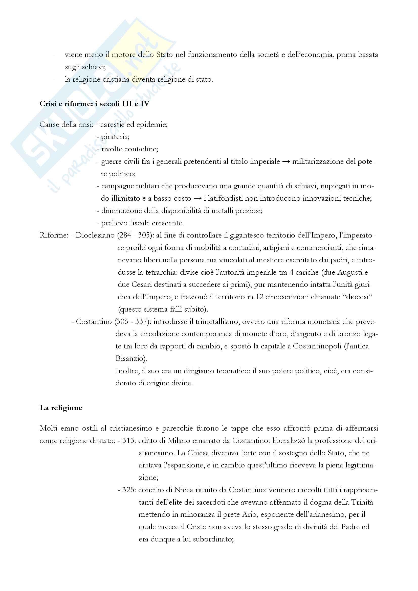 """Riassunto esame storia medievale, Prof. Varanini, libro consigliato """"I mille anni del Medioevo"""" (G. Piccinni) (prima parte) Pag. 2"""