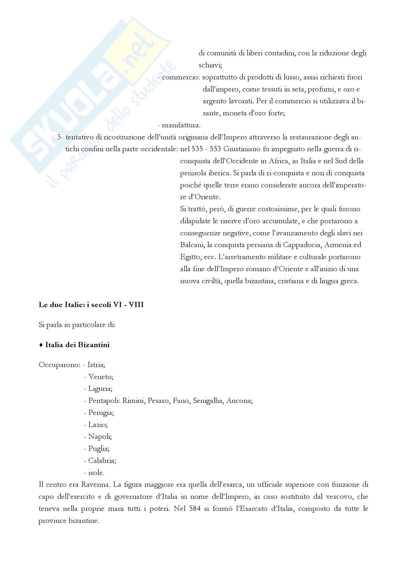 """Riassunto esame storia medievale, Prof. Varanini, libro consigliato """"I mille anni del Medioevo"""" (G. Piccinni) (prima parte) Pag. 6"""