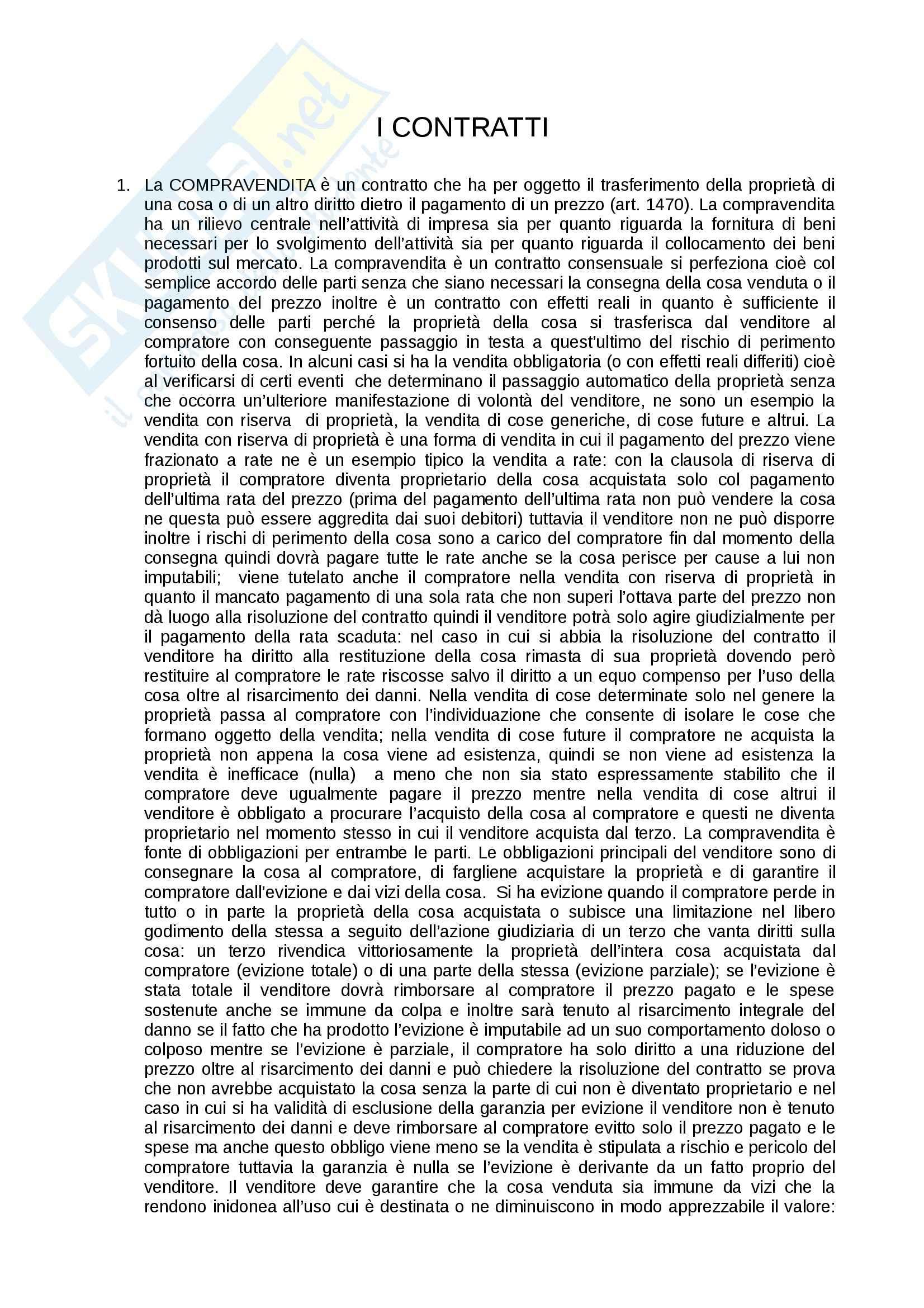 Riassunto esame Diritto commerciale, prof. Corvese, libro consigliato Manuale di diritto commerciale, Campobasso: contratto