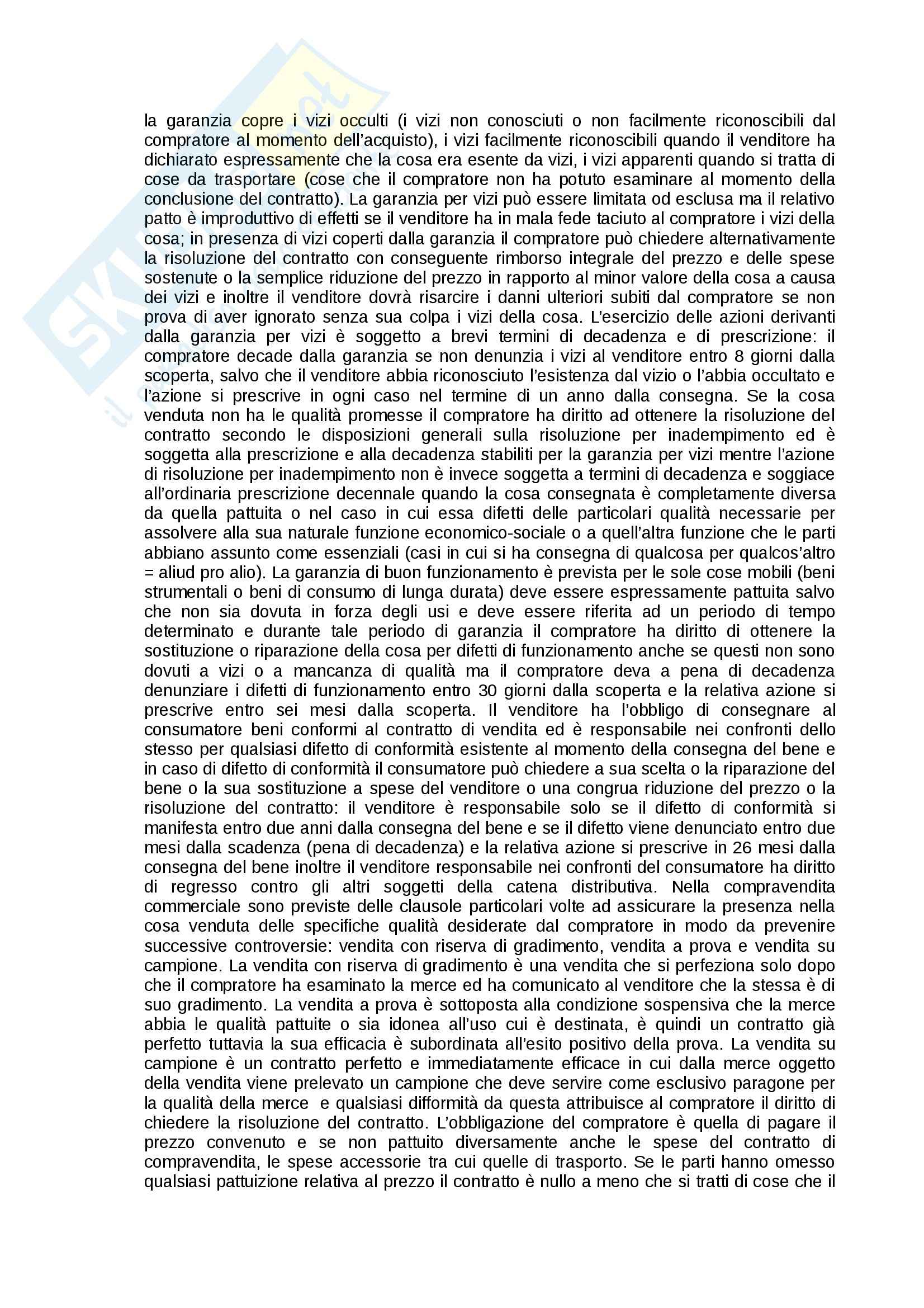 Riassunto esame Diritto commerciale, prof. Corvese, libro consigliato Manuale di diritto commerciale, Campobasso: contratto Pag. 2