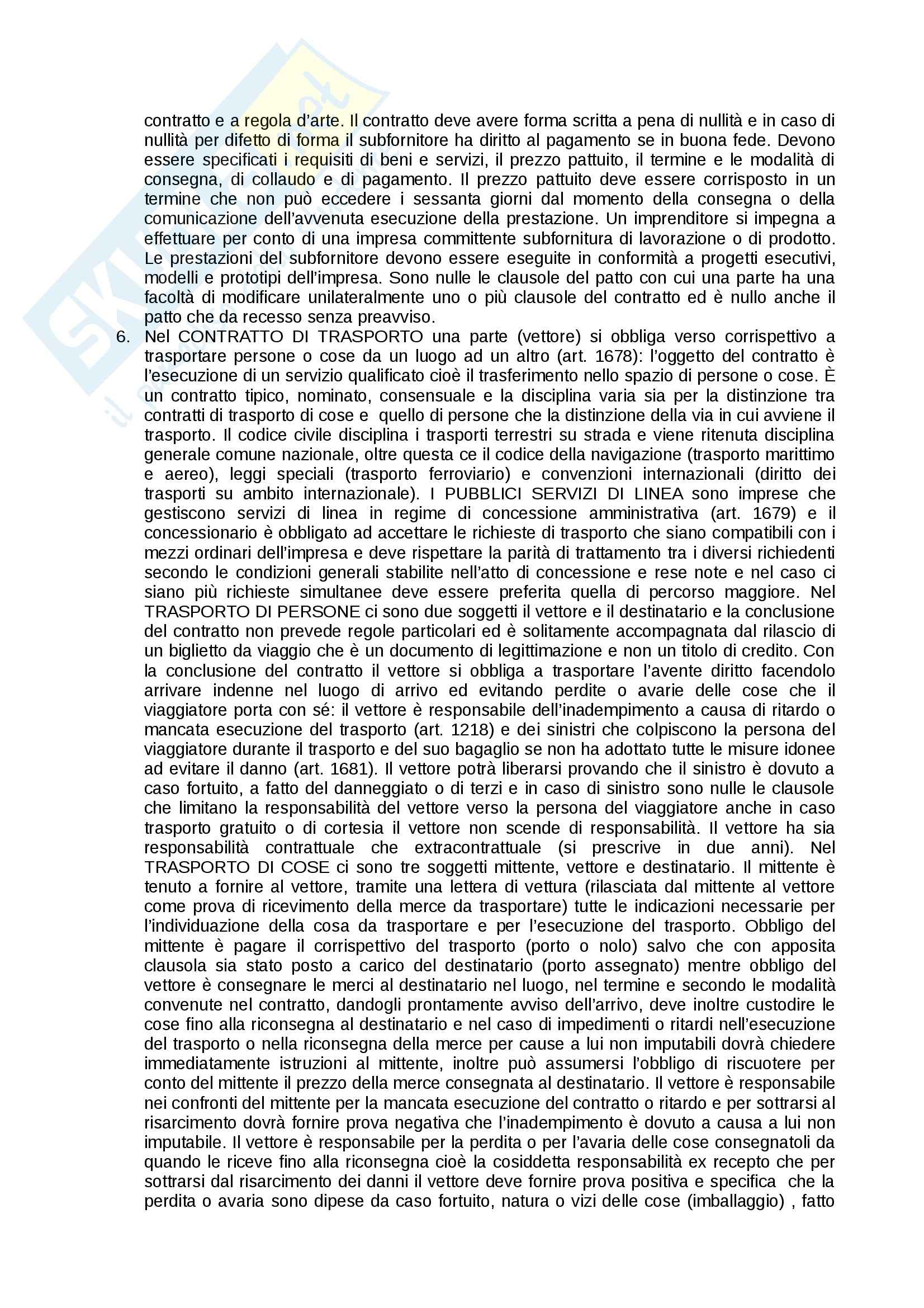 Riassunto esame Diritto commerciale, prof. Corvese, libro consigliato Manuale di diritto commerciale, Campobasso: contratto Pag. 6