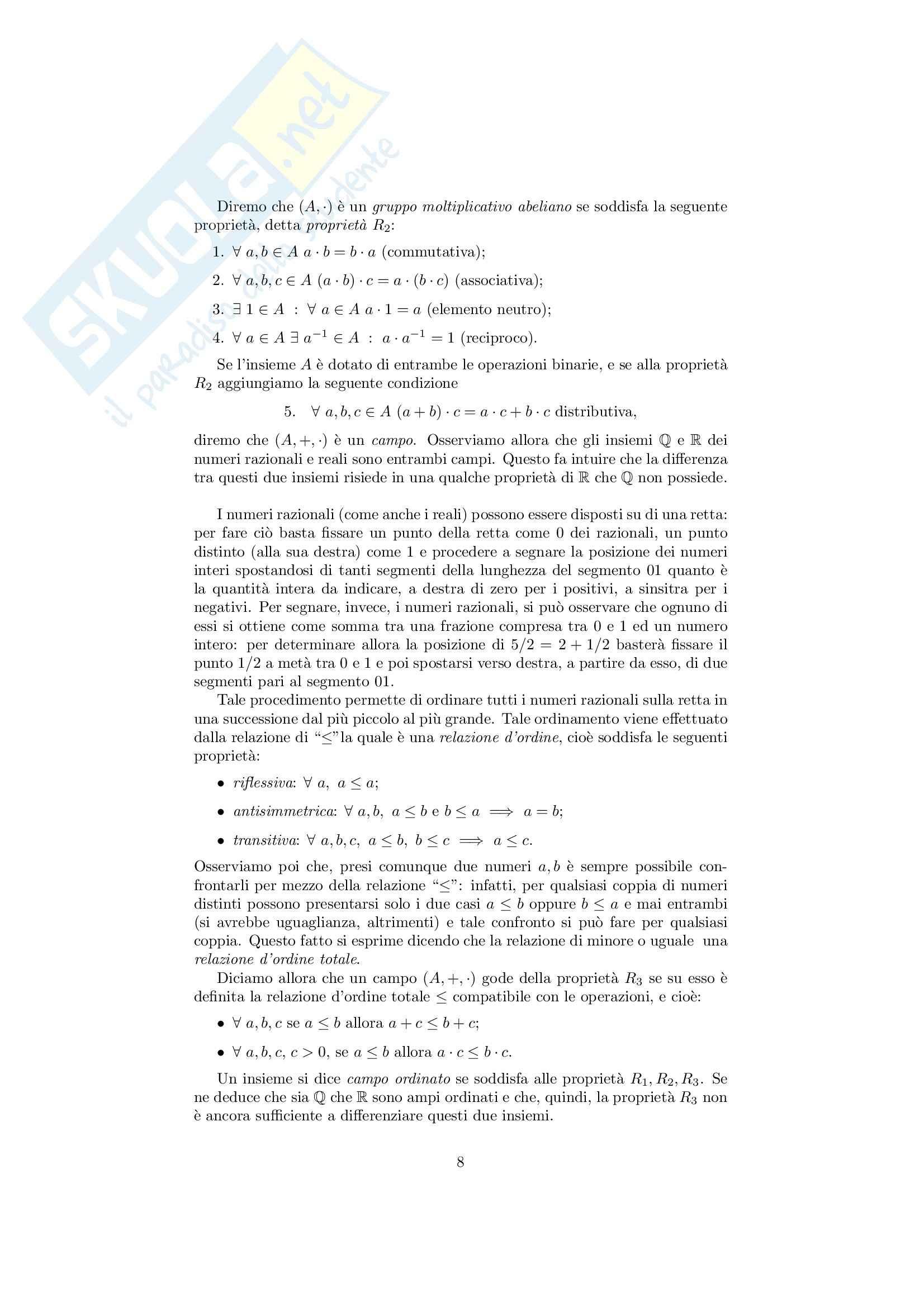 Analisi matematica 1 - Note ed esercizi svolti su Insiemi, numeri reali e Principio di Induzione Pag. 11