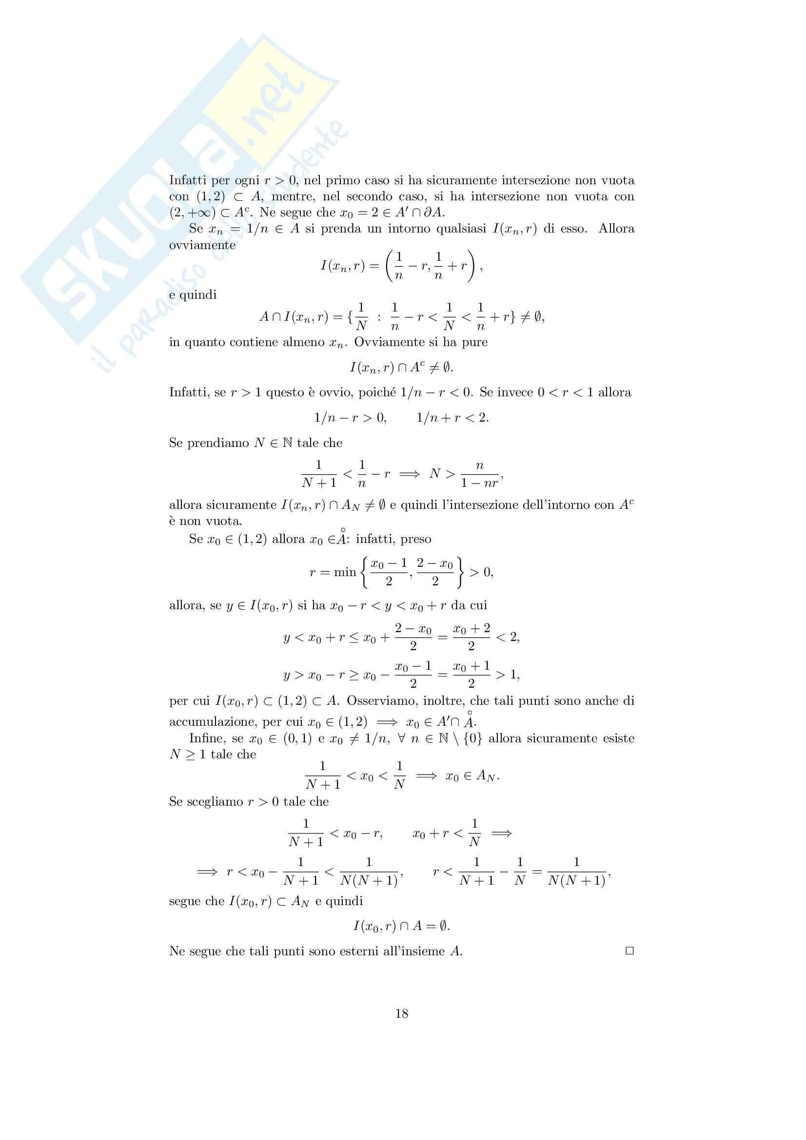 Analisi matematica 1 - Note ed esercizi svolti su Insiemi, numeri reali e Principio di Induzione Pag. 21
