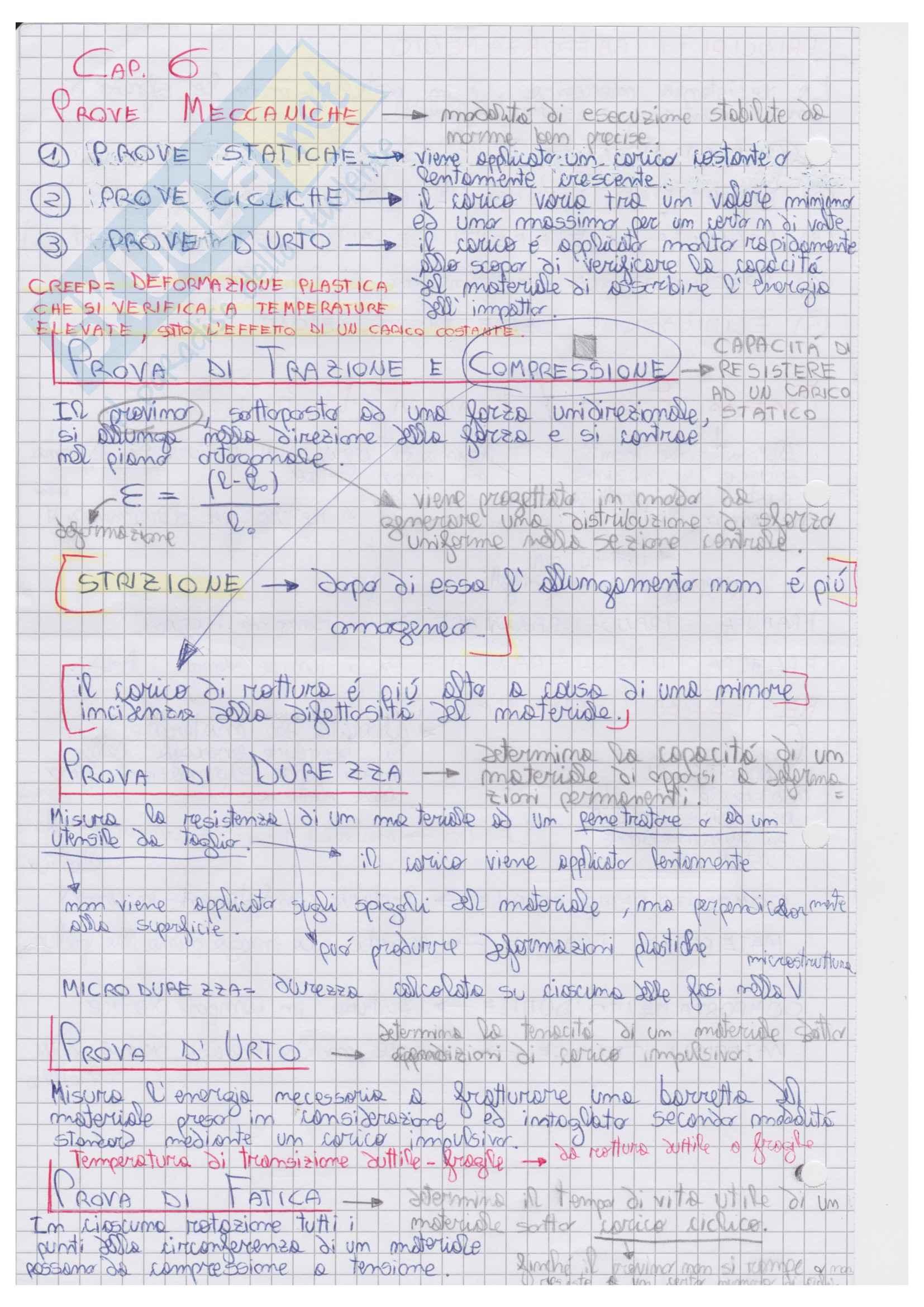Prove Meccaniche, Diagrammi di Stato, Acciai, Leghe, Chimica
