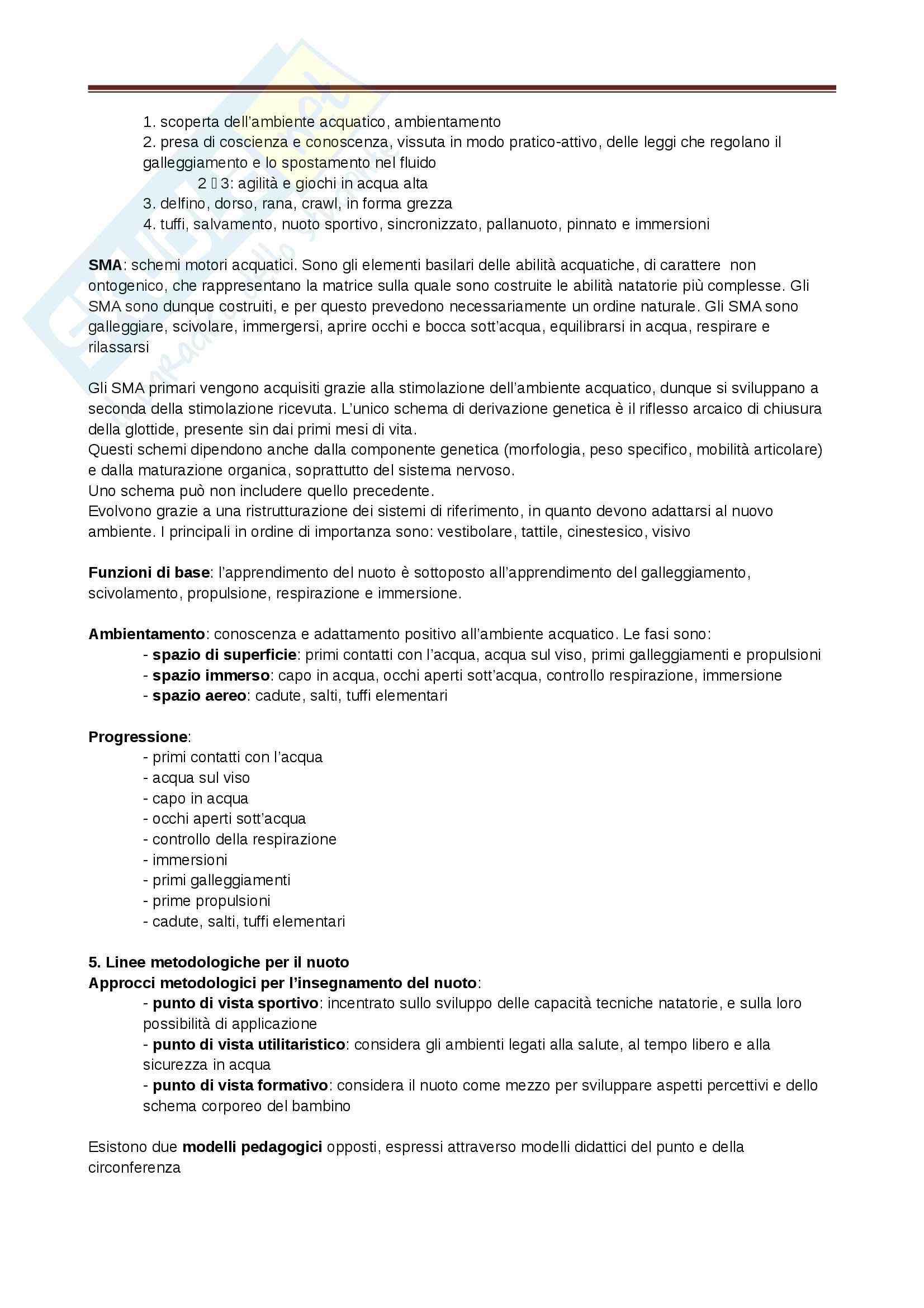 Appunti - Nuoto Pag. 6