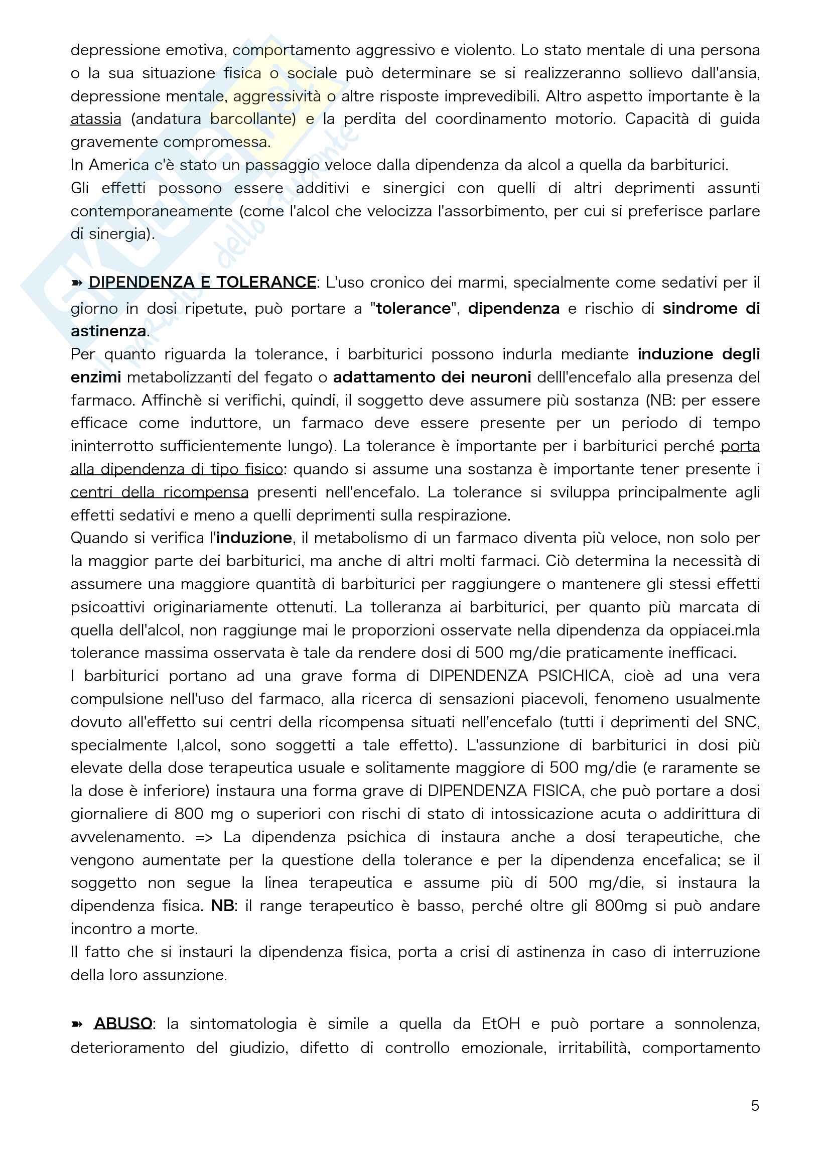 Chimica tossicologica Parte 2 Pag. 6